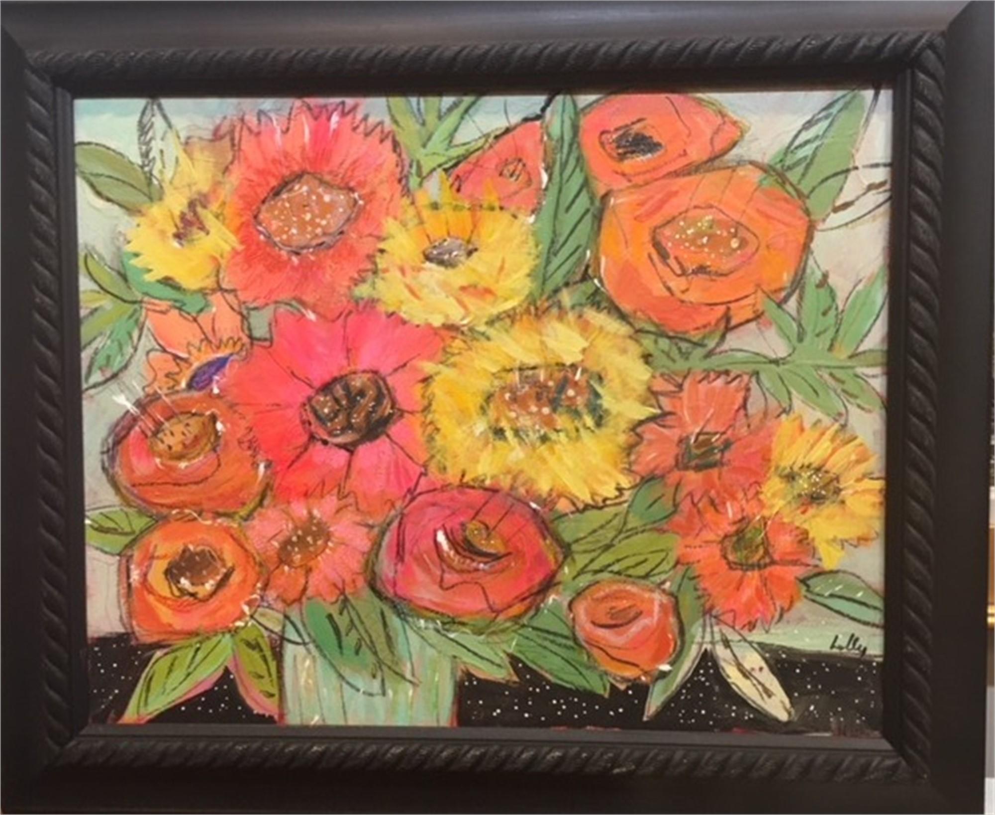 Happy Flowers by Lolly Sesco