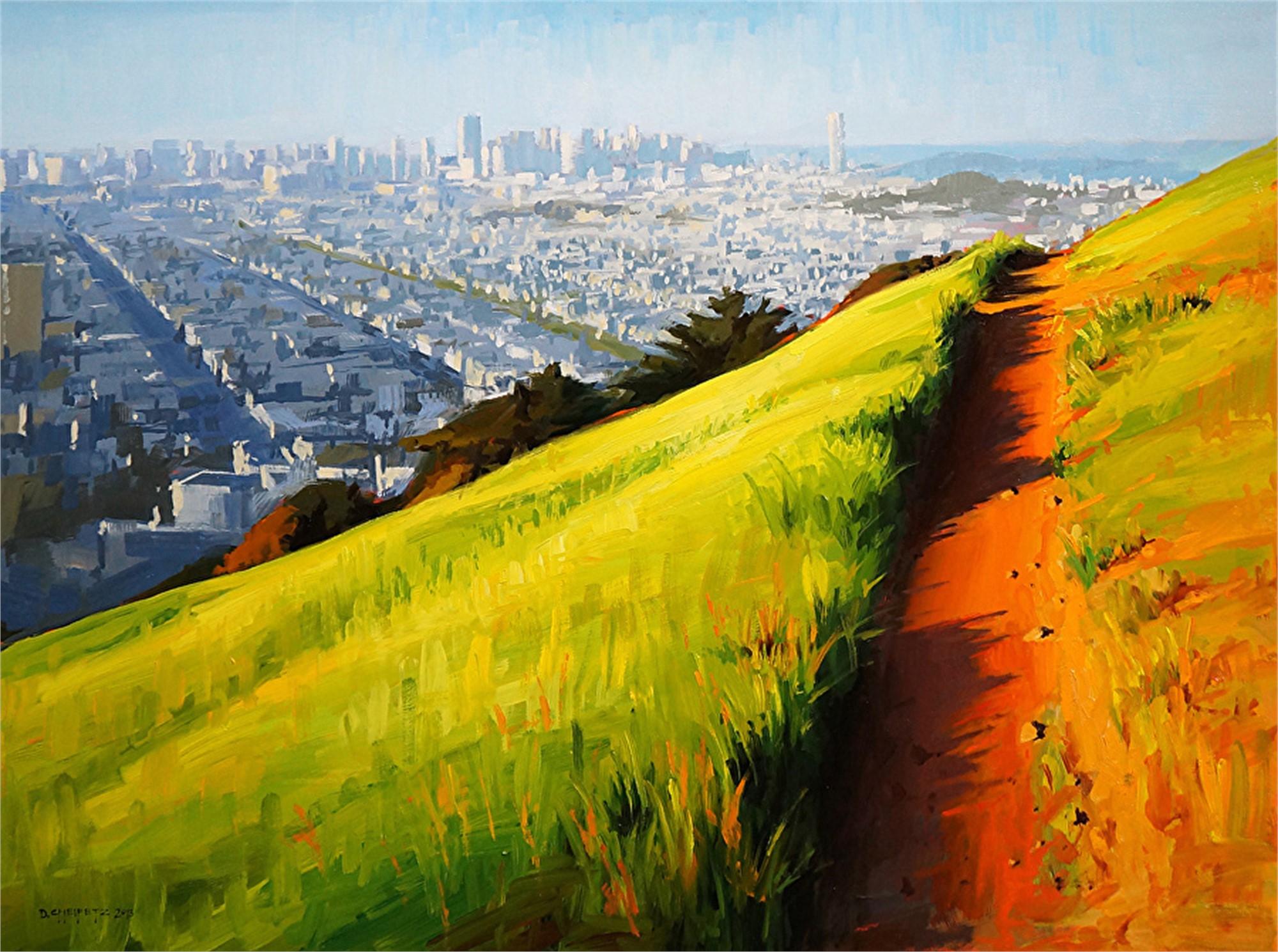Path before Sunset, Bernal Heights by David Cheifetz