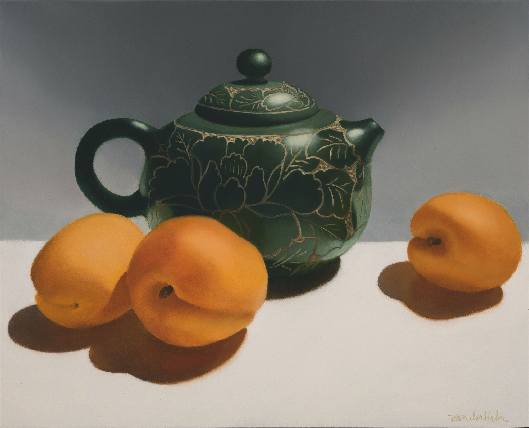 Teapot with Apricots by Sarah van der Helm