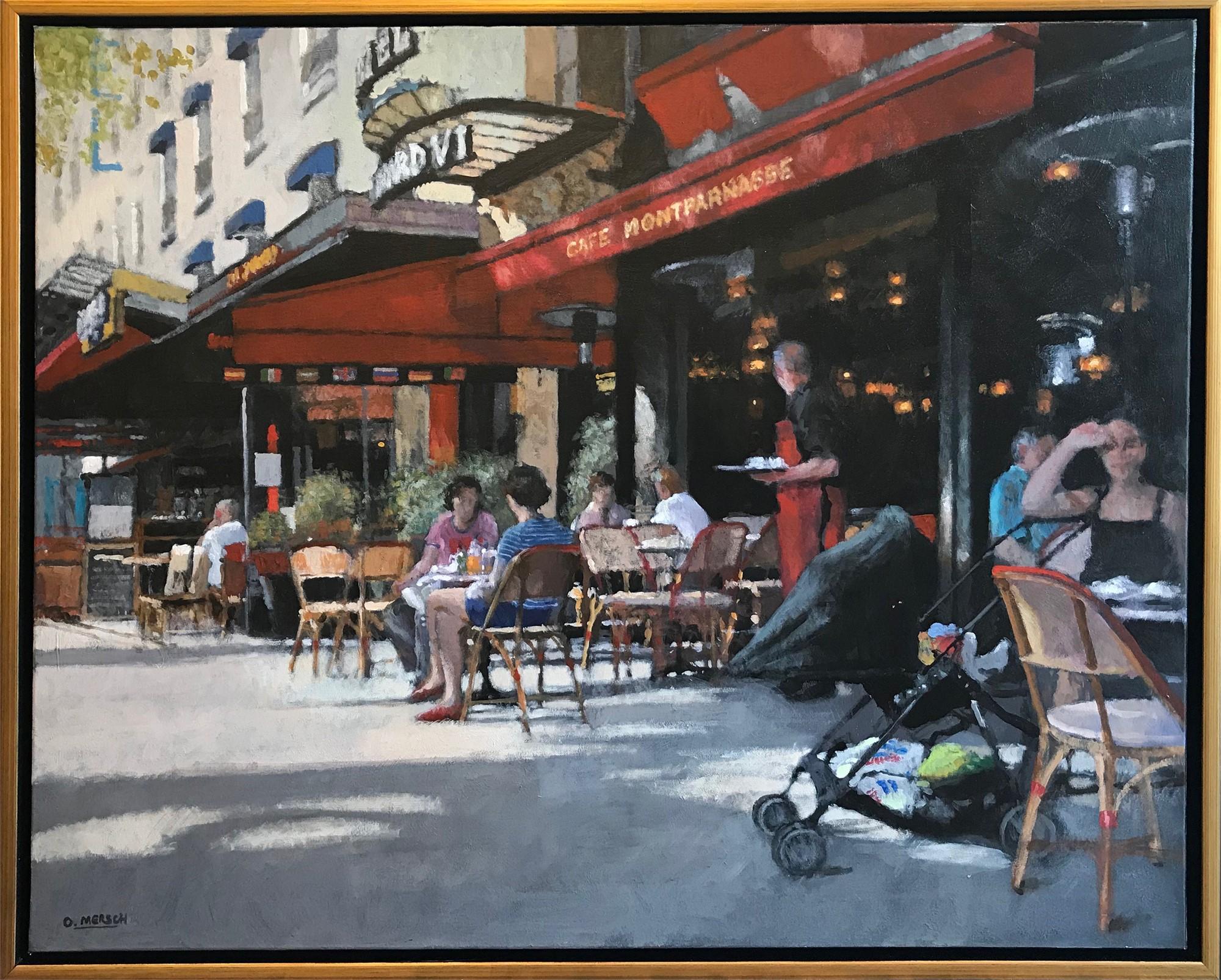 Sidewalk Cafe in Paris by Oscar Mersch