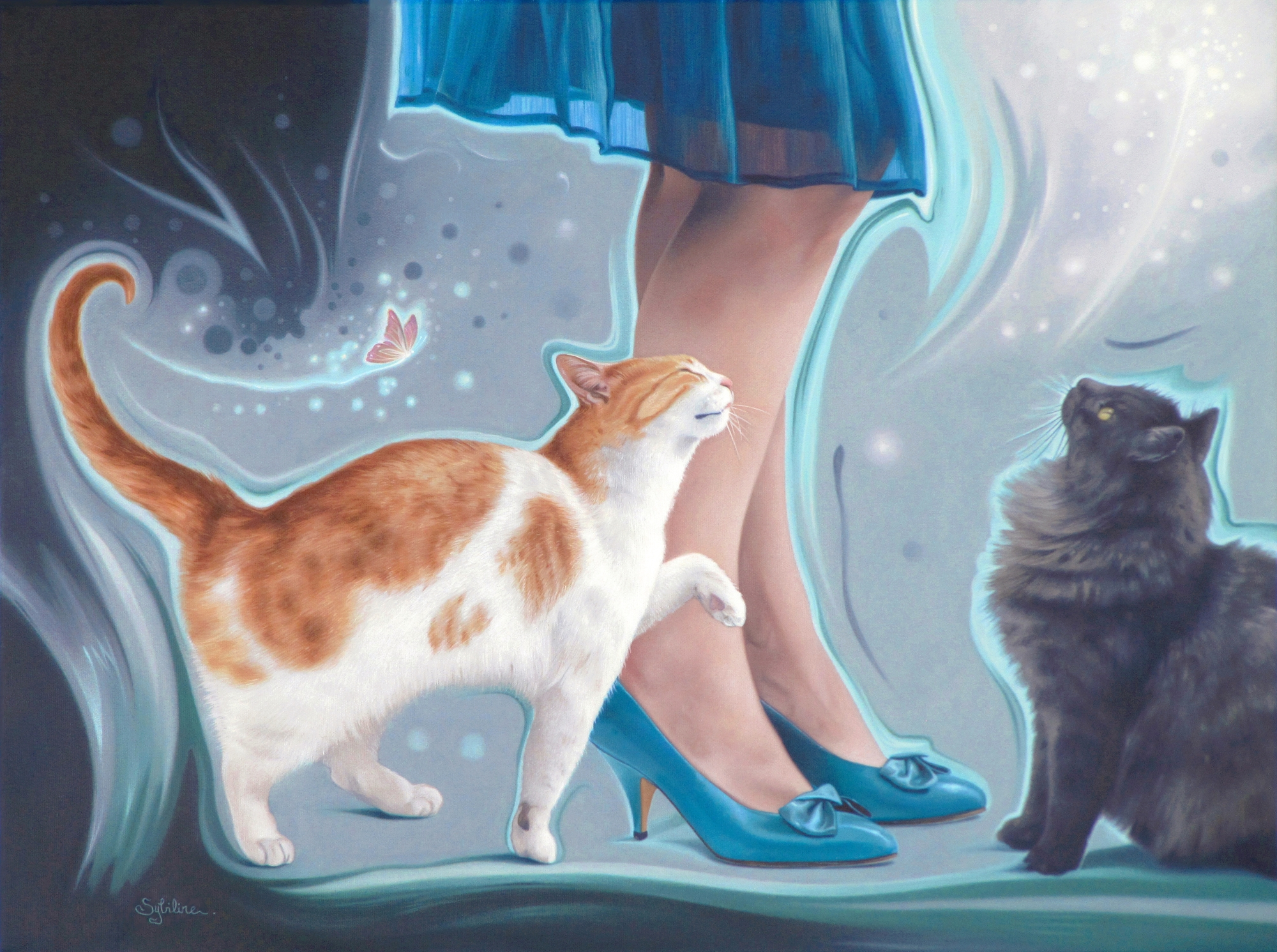 Irresistible Blue Shoes by Sybiline