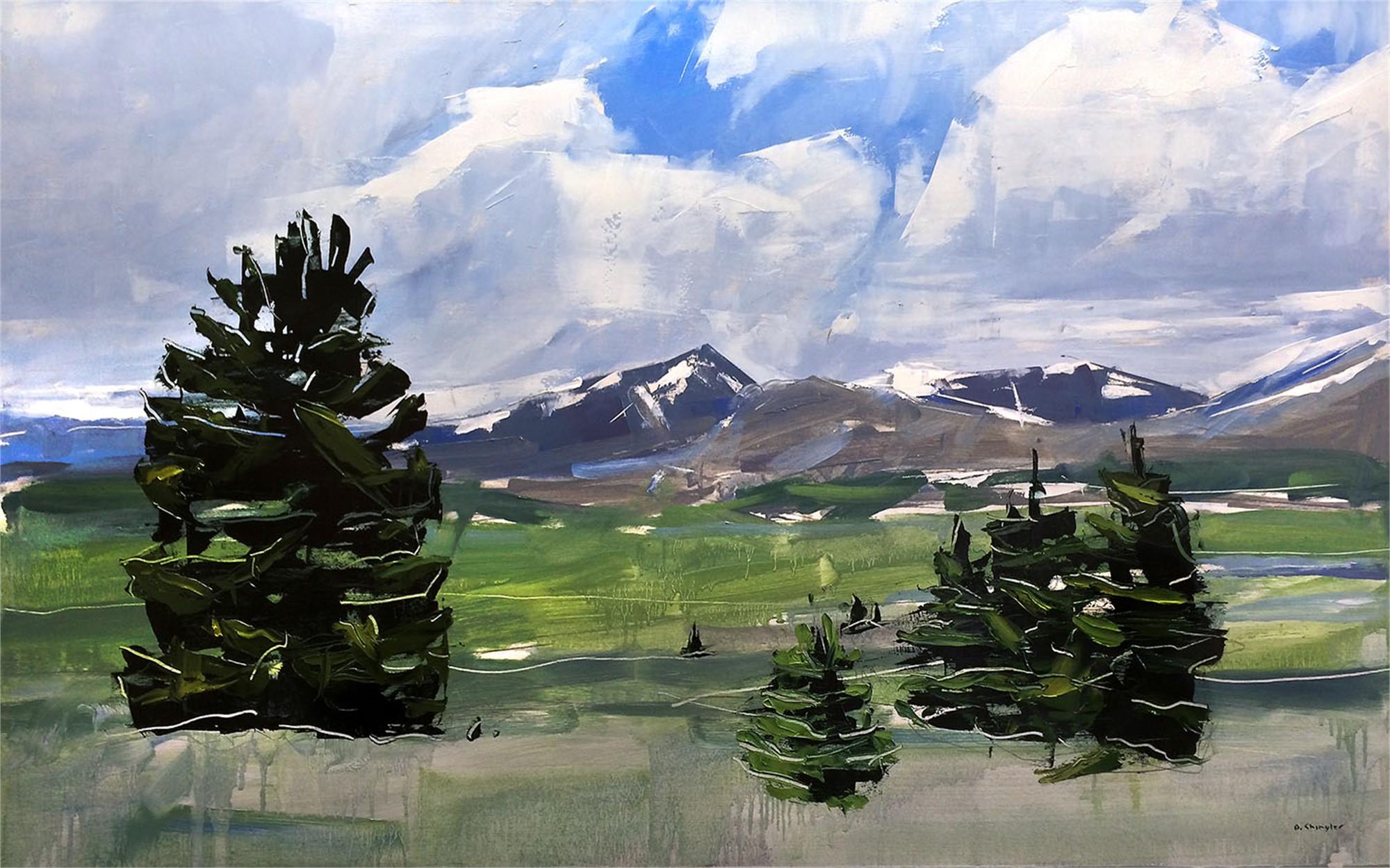 Mt. Evans and Bierstadt Colorado by David Shingler