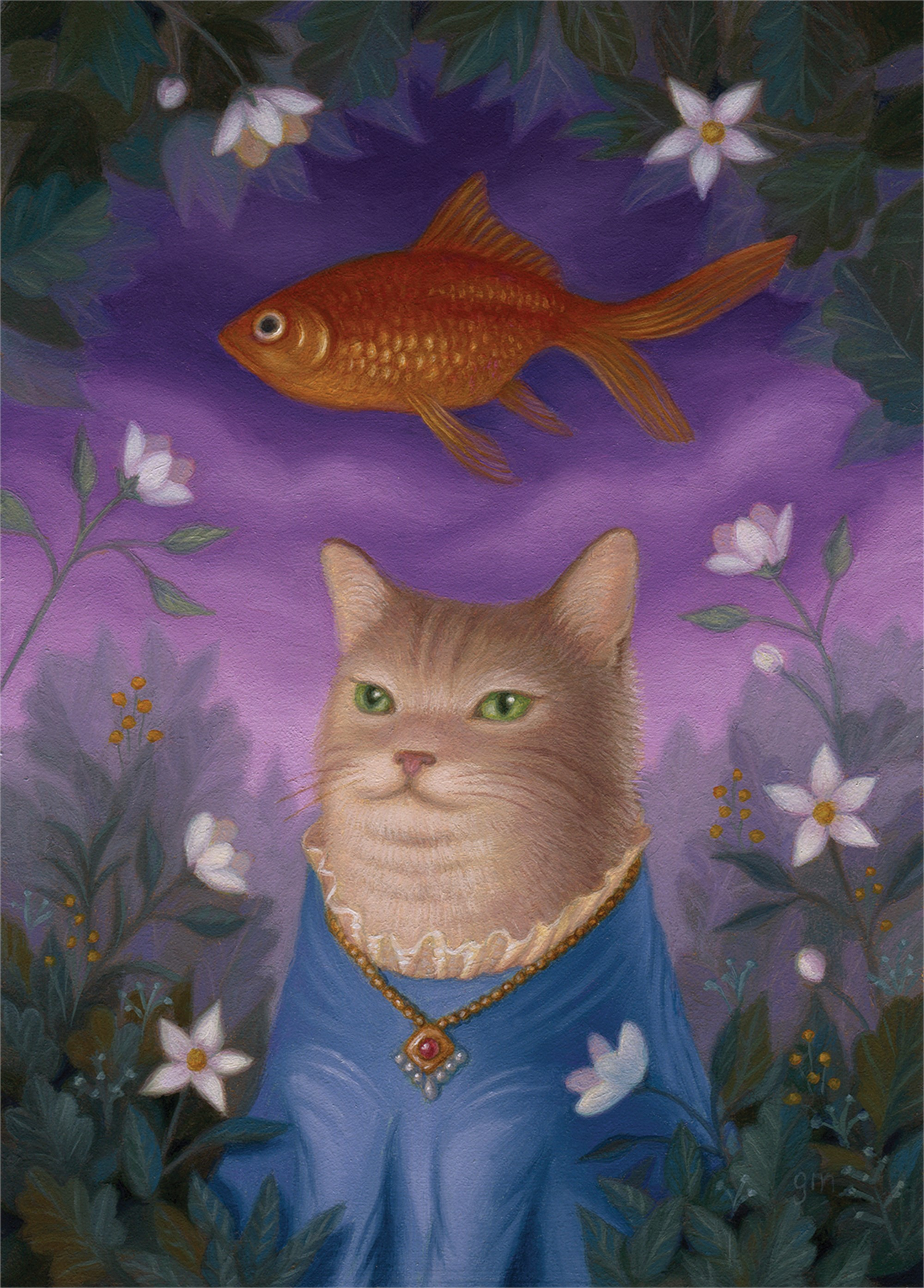 Amelia, Amongst the Flowers in the Fish Glen by Gina Matarazzo