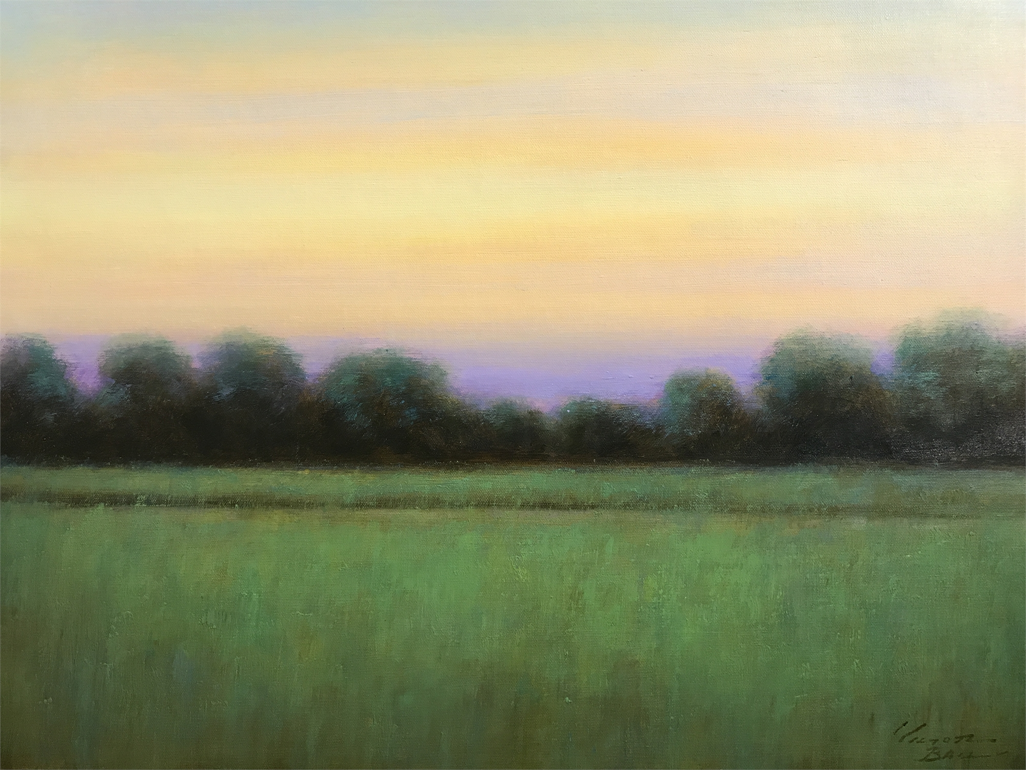 LANDSCAPE YELLOW SKY by VICTOR BALL