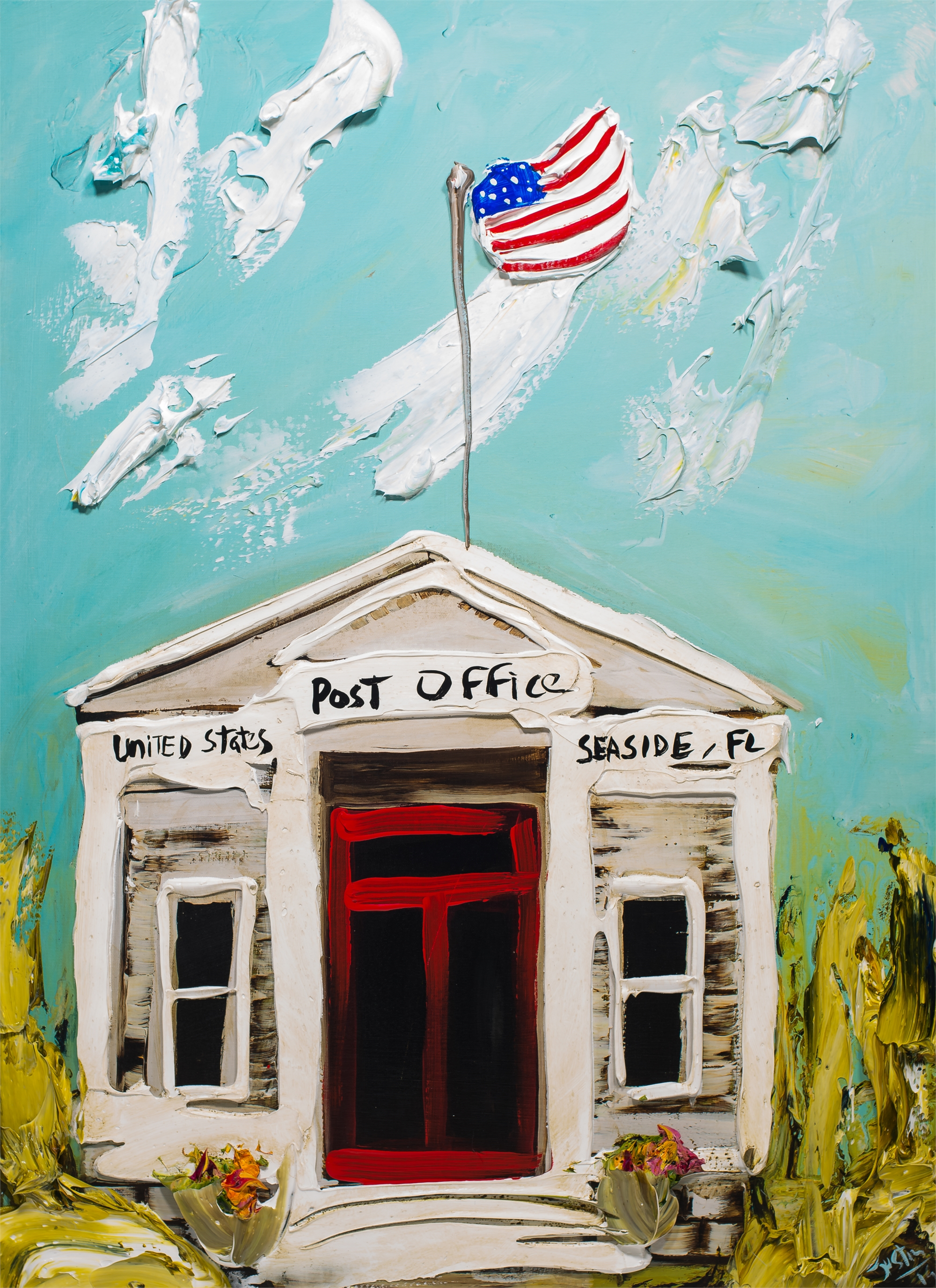 SEASIDE POST OFFICE HPAE 10/50 by JUSTIN GAFFREY