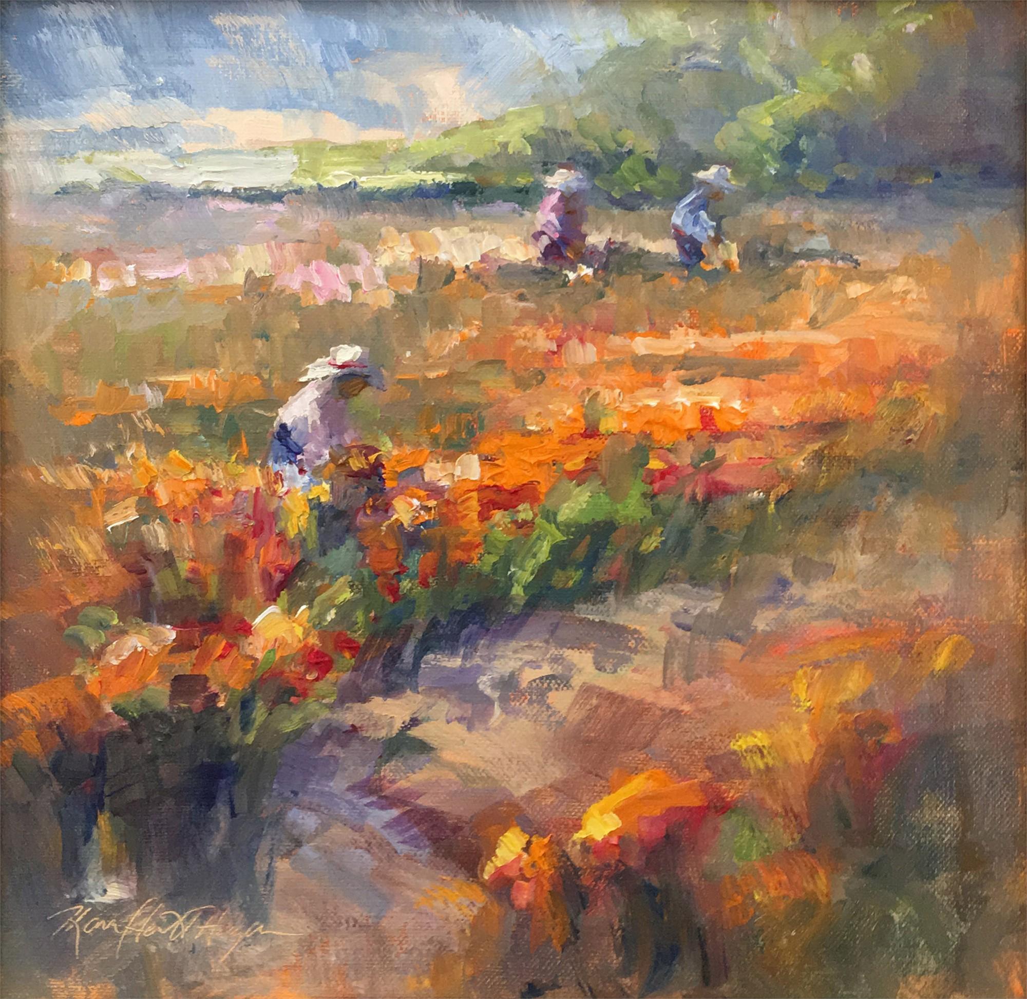 Flower Pickers (California) by Karen Hewitt Hagan