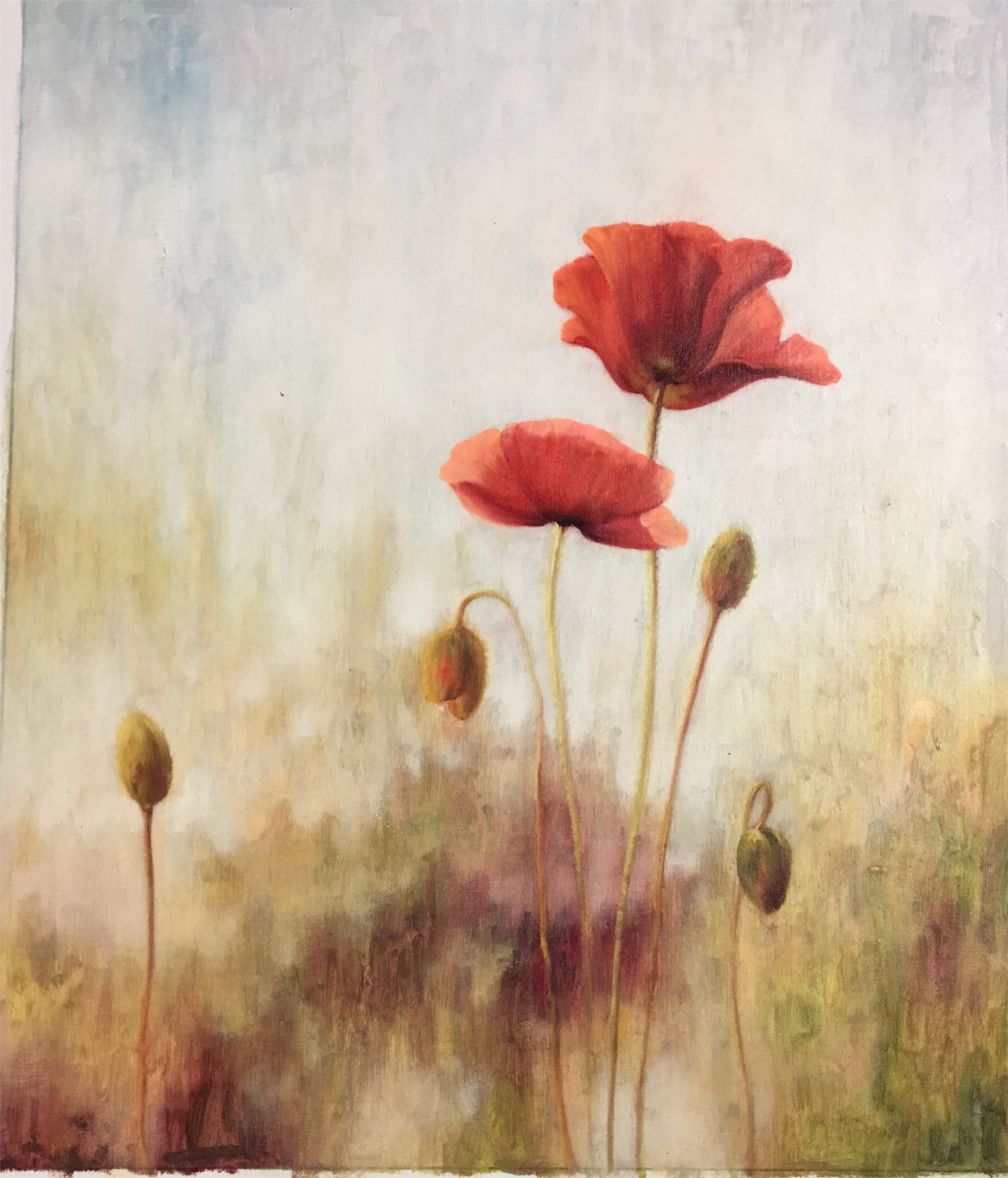 PAIR OF POPPIES by VARIOUS WORKS