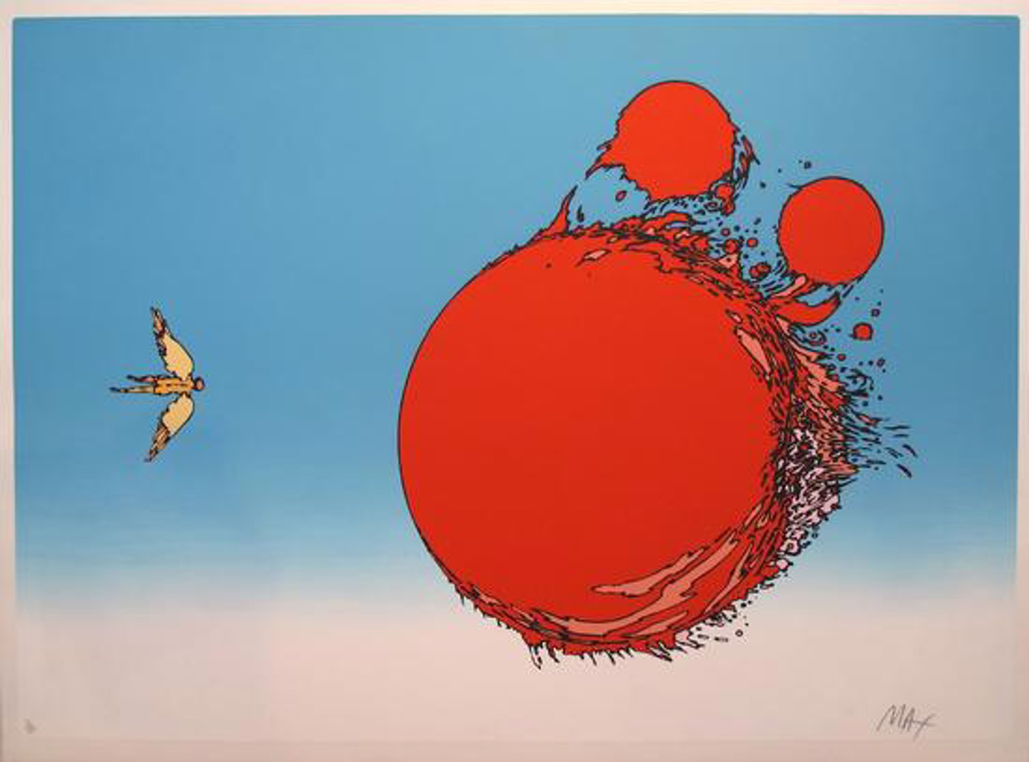Ball of Fire (Icarus) by Peter Max