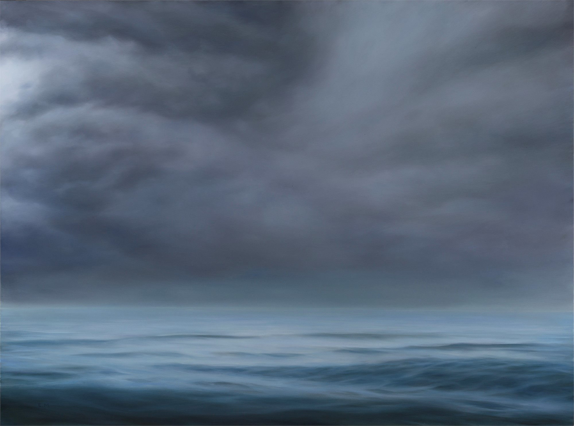 Seascape in Silver by Elsa Muñoz
