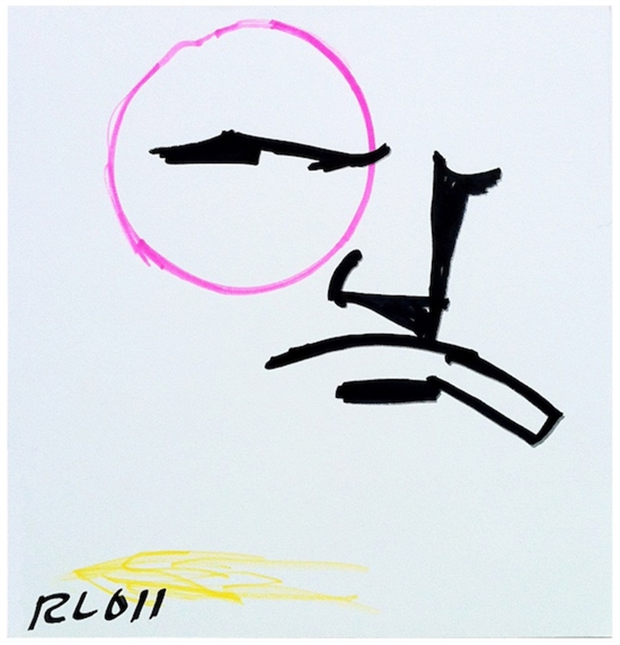 Untitled (Brute with Pink Monocle) by Robert Loughlin