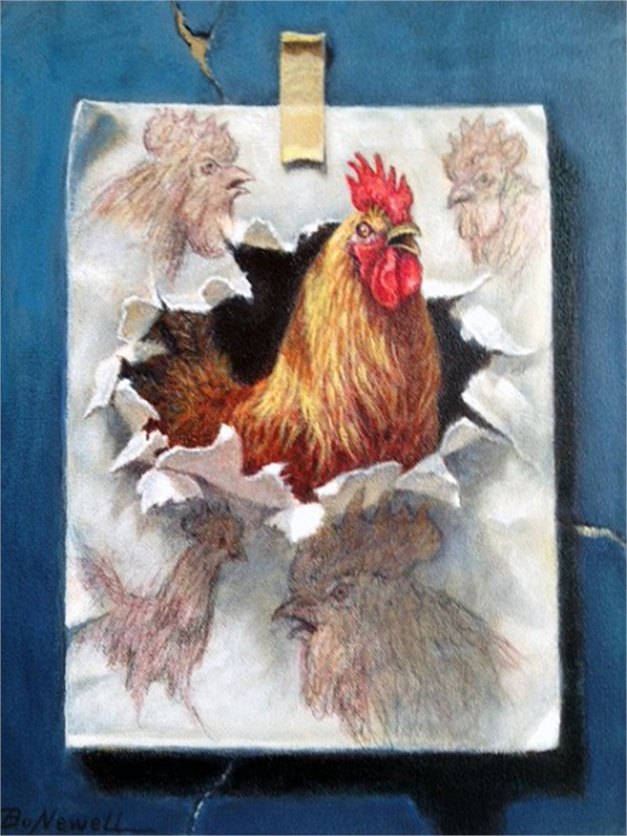 Cock-a-Doodle-Doo, 2015 by Bo Newell