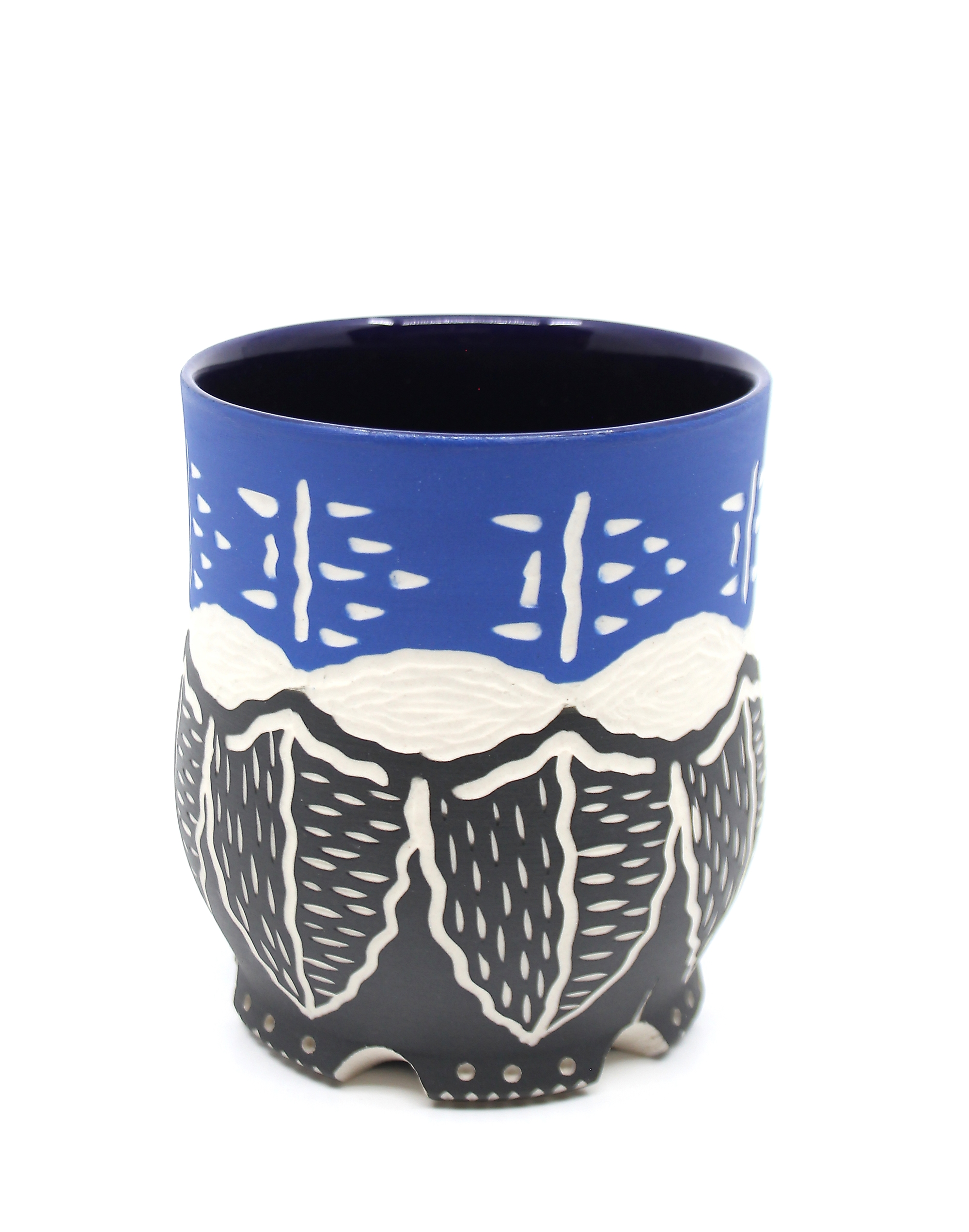 Blue & Black Cup by Chris Casey