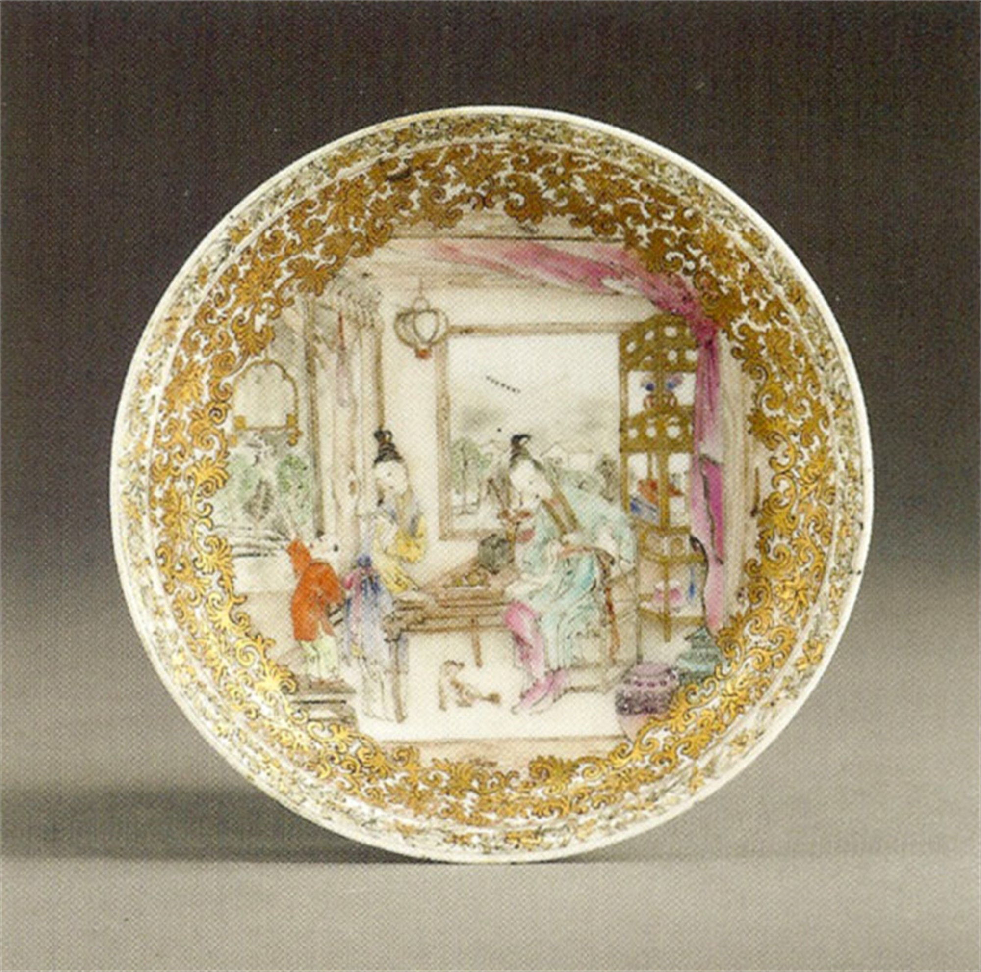 CHINESE EXPORT FAMILLE-ROSE SAUCER