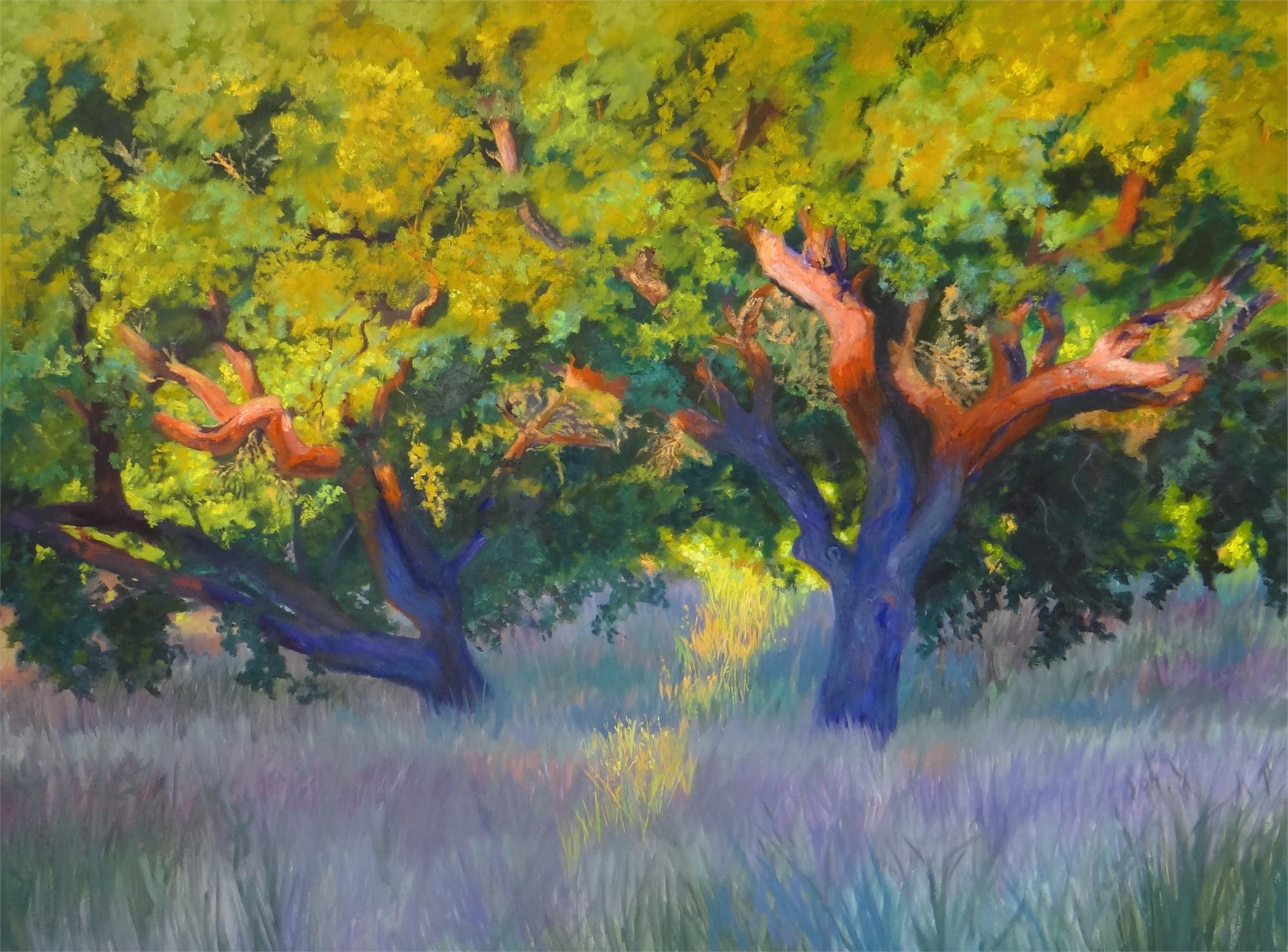 Oak at Sunrise by Nancy Paris Pruden