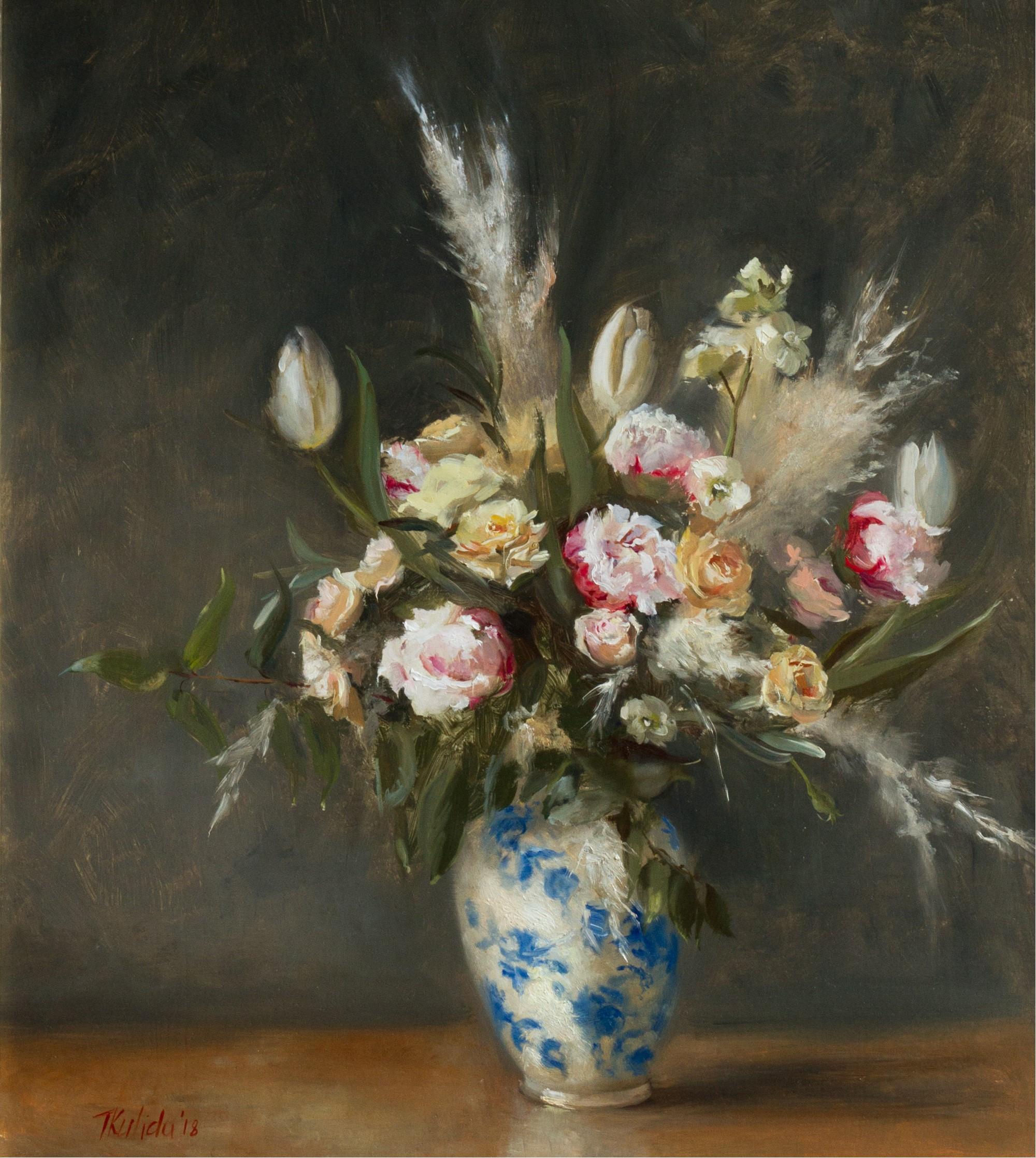 Florals in Blue China by Tatyana Kulida