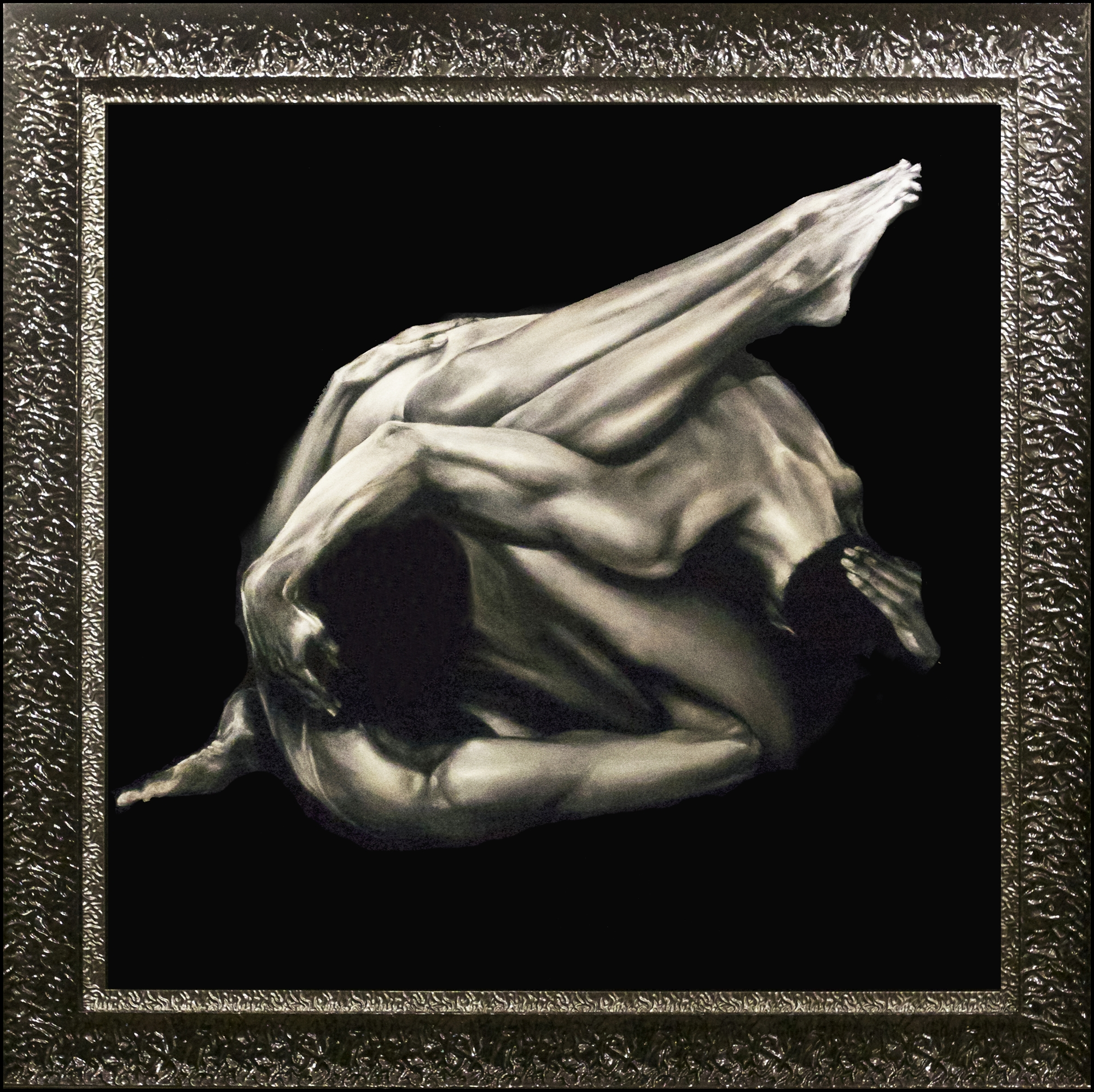 Human Knot on Metal by Bill Mack