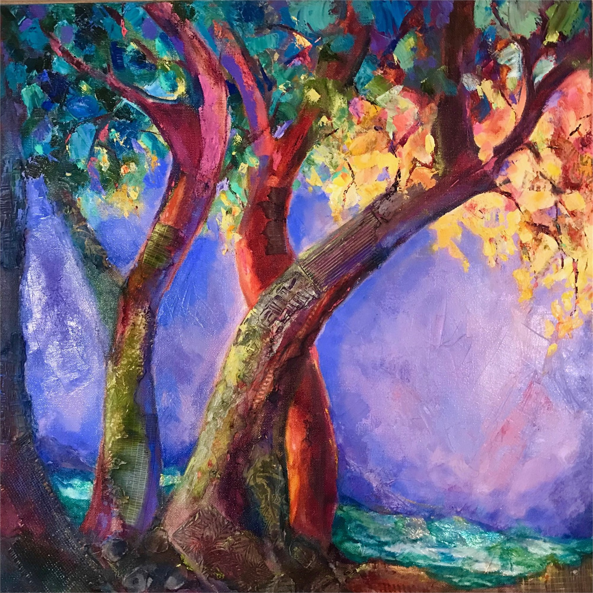 Riverside Trees by Joan Pechanec (McMinnville, OR)
