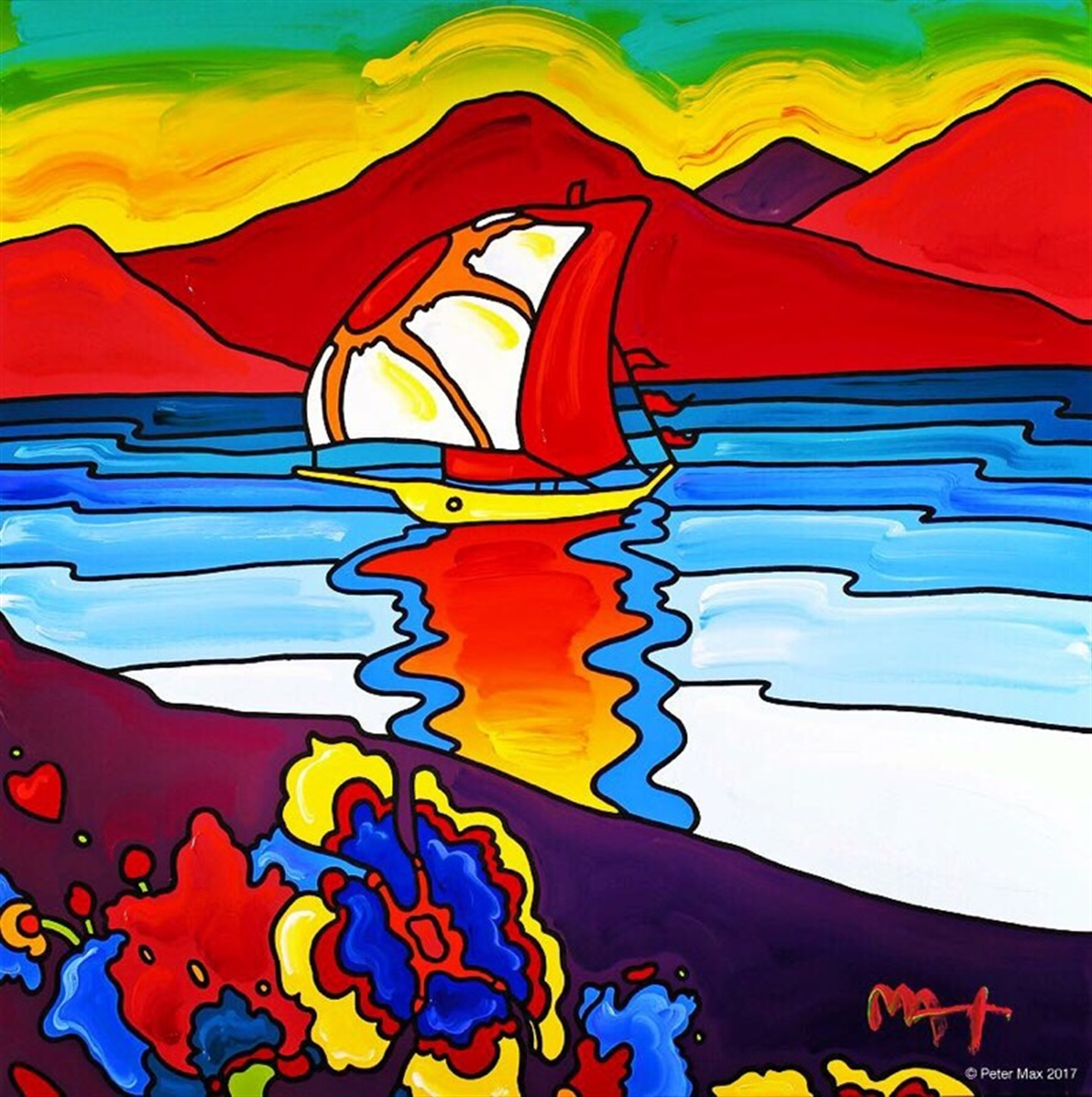 Retro: Sunset Sail Summer of Love 50th by Peter Max