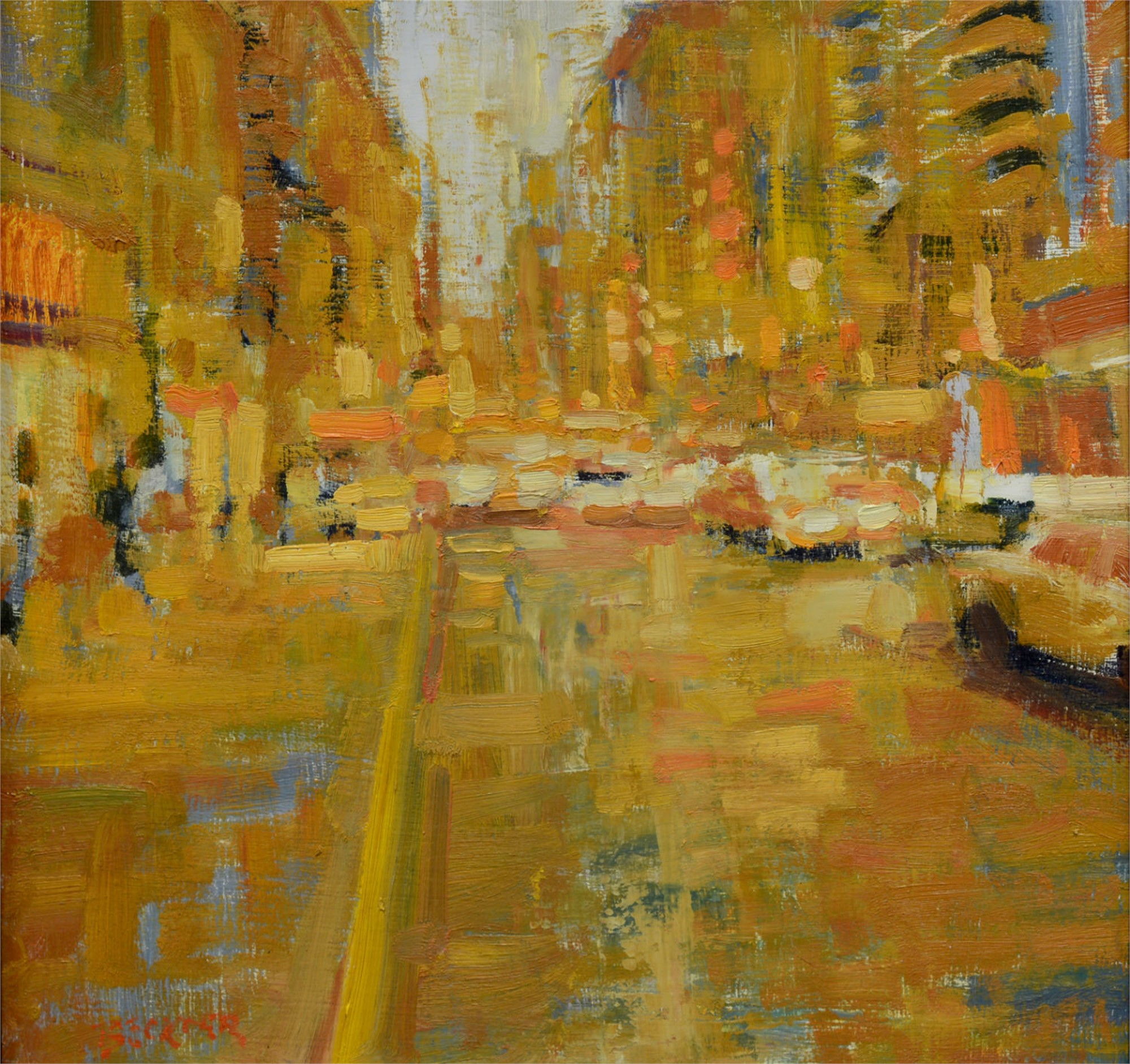 City in Yellow by Jim Beckner
