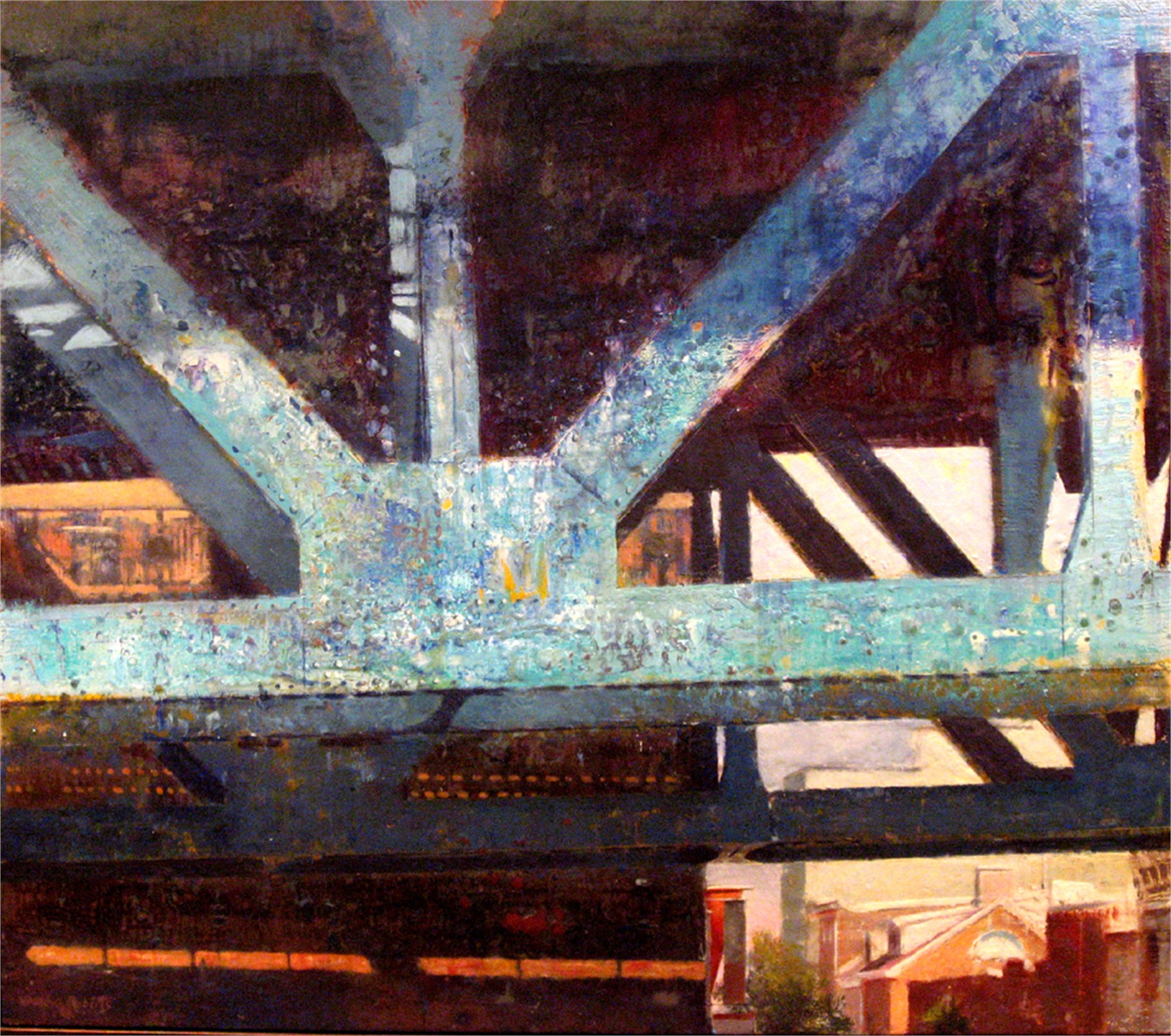 Bridge Blue by Dale O Roberts