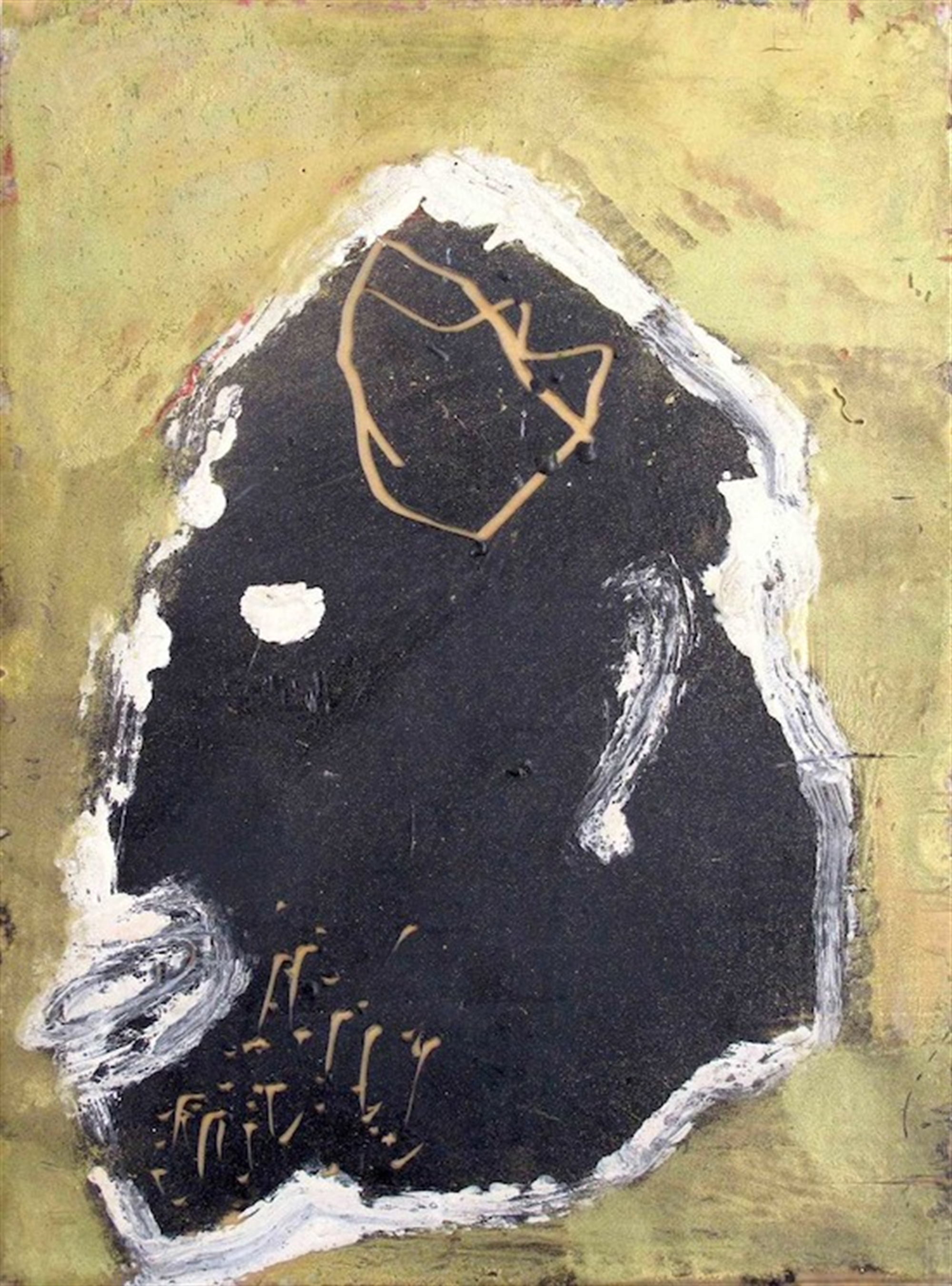 Portrait in Black on Gold by James Havard