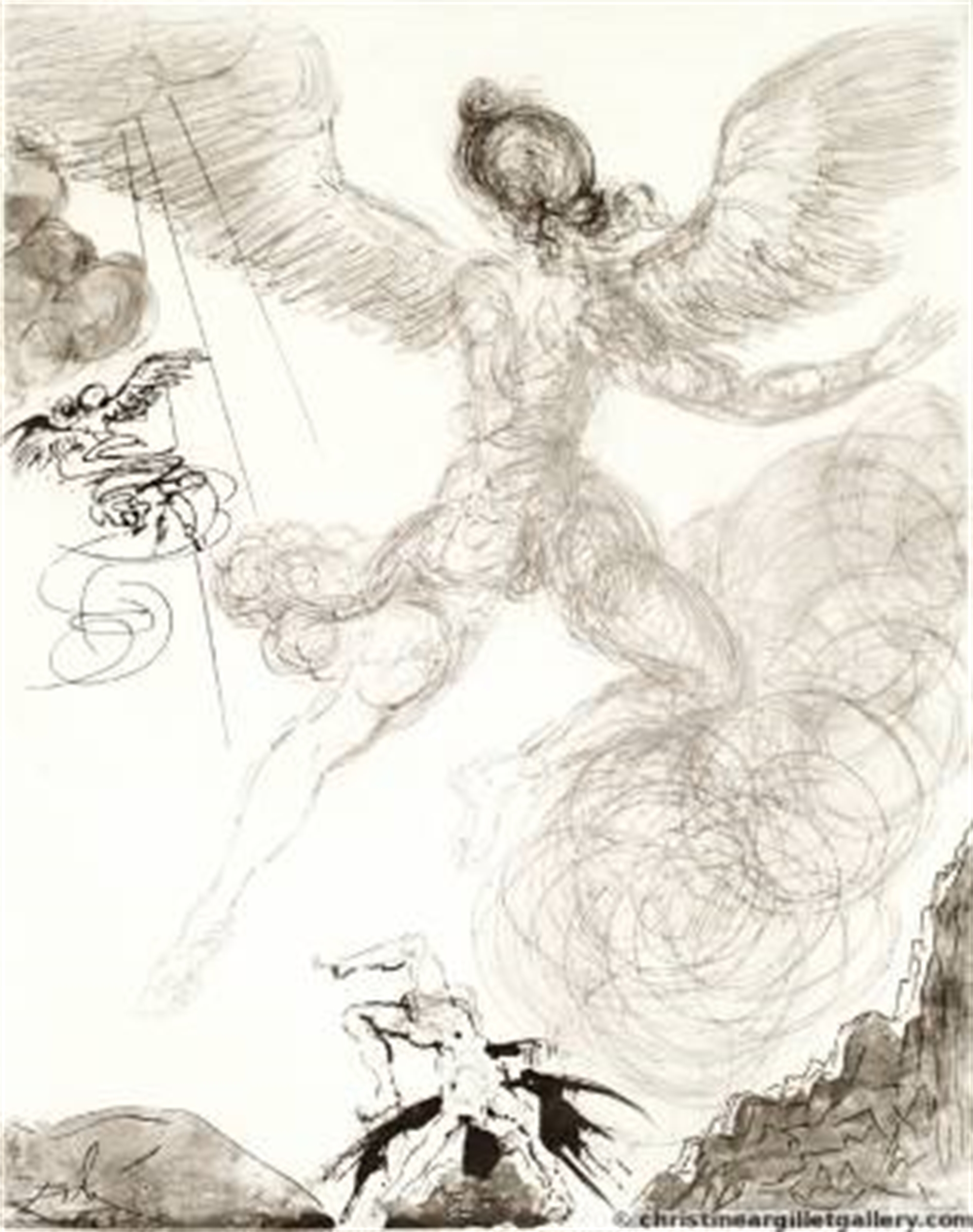 "Mythology ""Flight and Fall of Icarus"" by Salvador Dali"