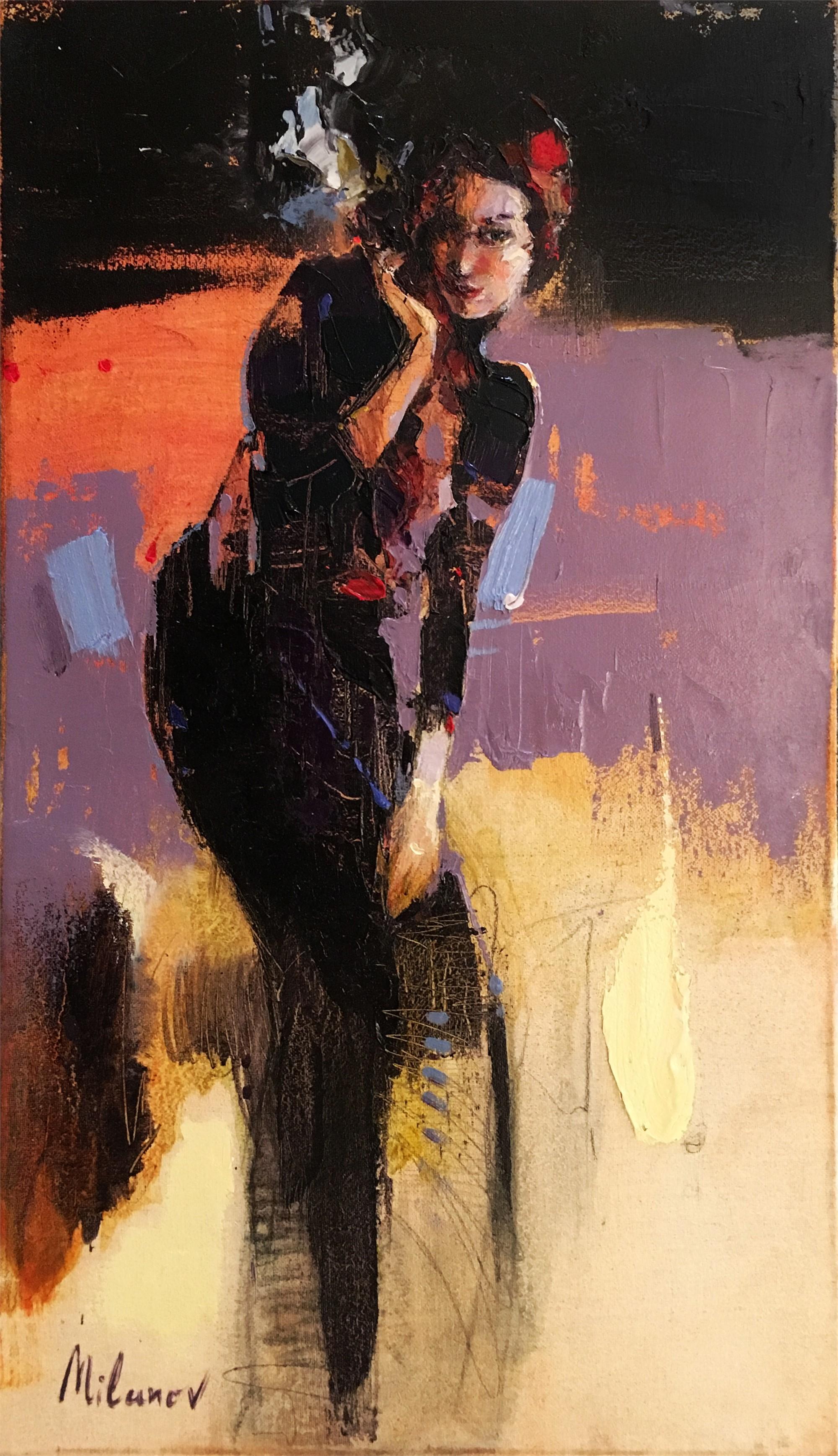 Girl on Purple by STOJAN