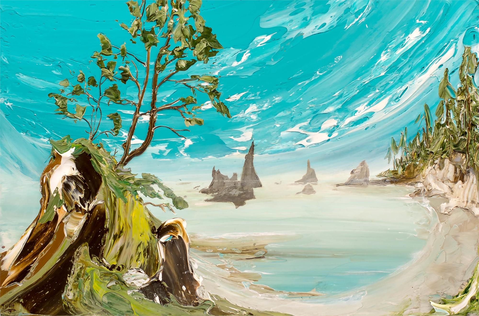 Shi Shi Beach WA Seascape by JUSTIN GAFFREY