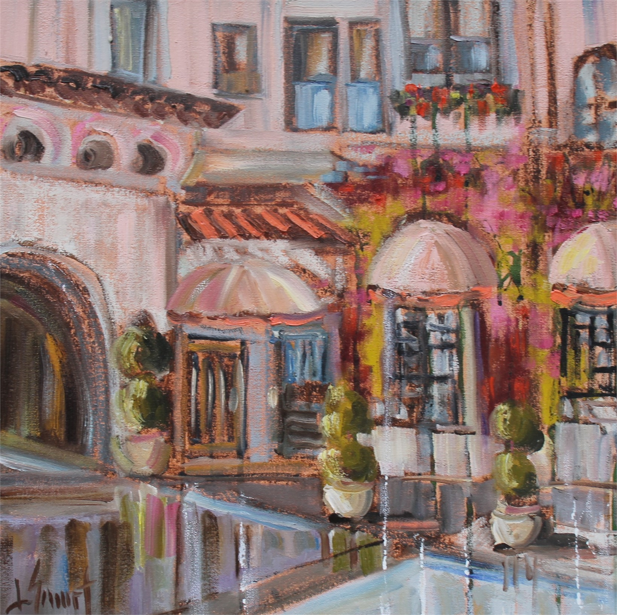 Pink Awnings by Libby Smart