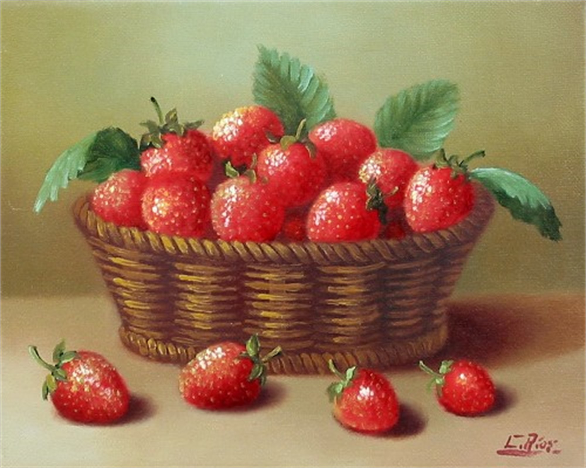 BASKET OF STRAWBERRIES by RIOS