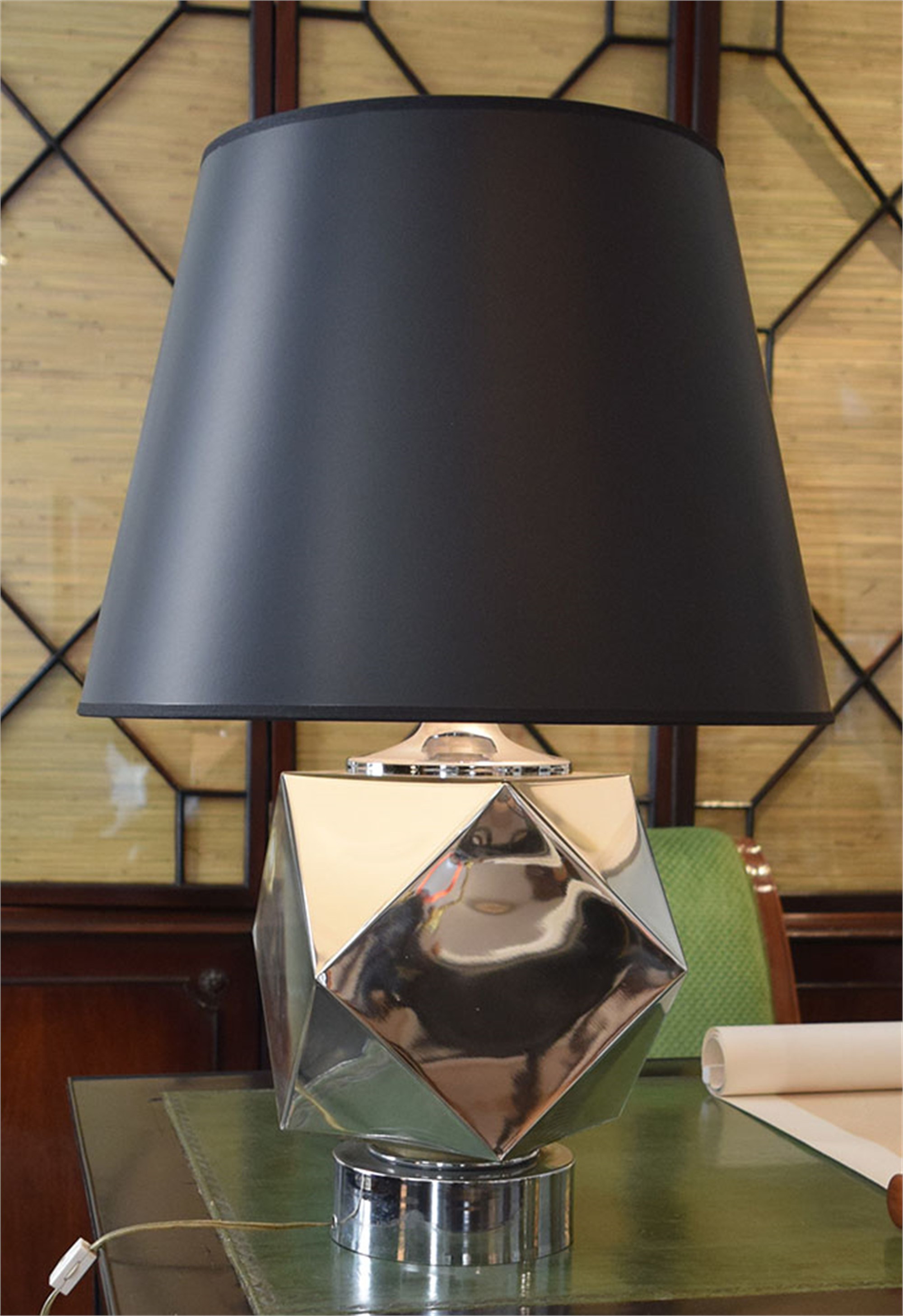 POLISHED CHROME TABLE LAMP by John Vesey