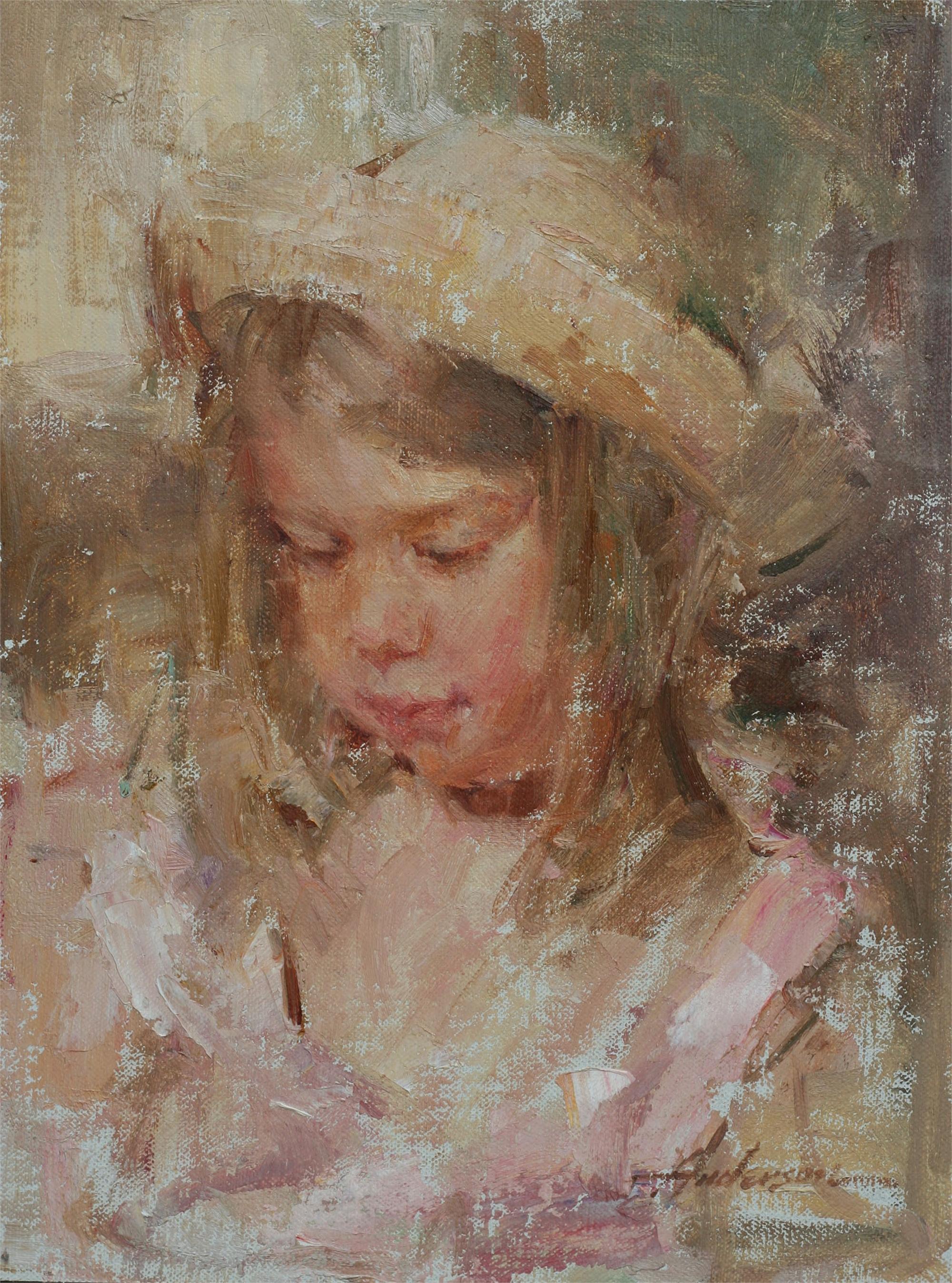 Girl in Straw Hat by Carolyn Anderson