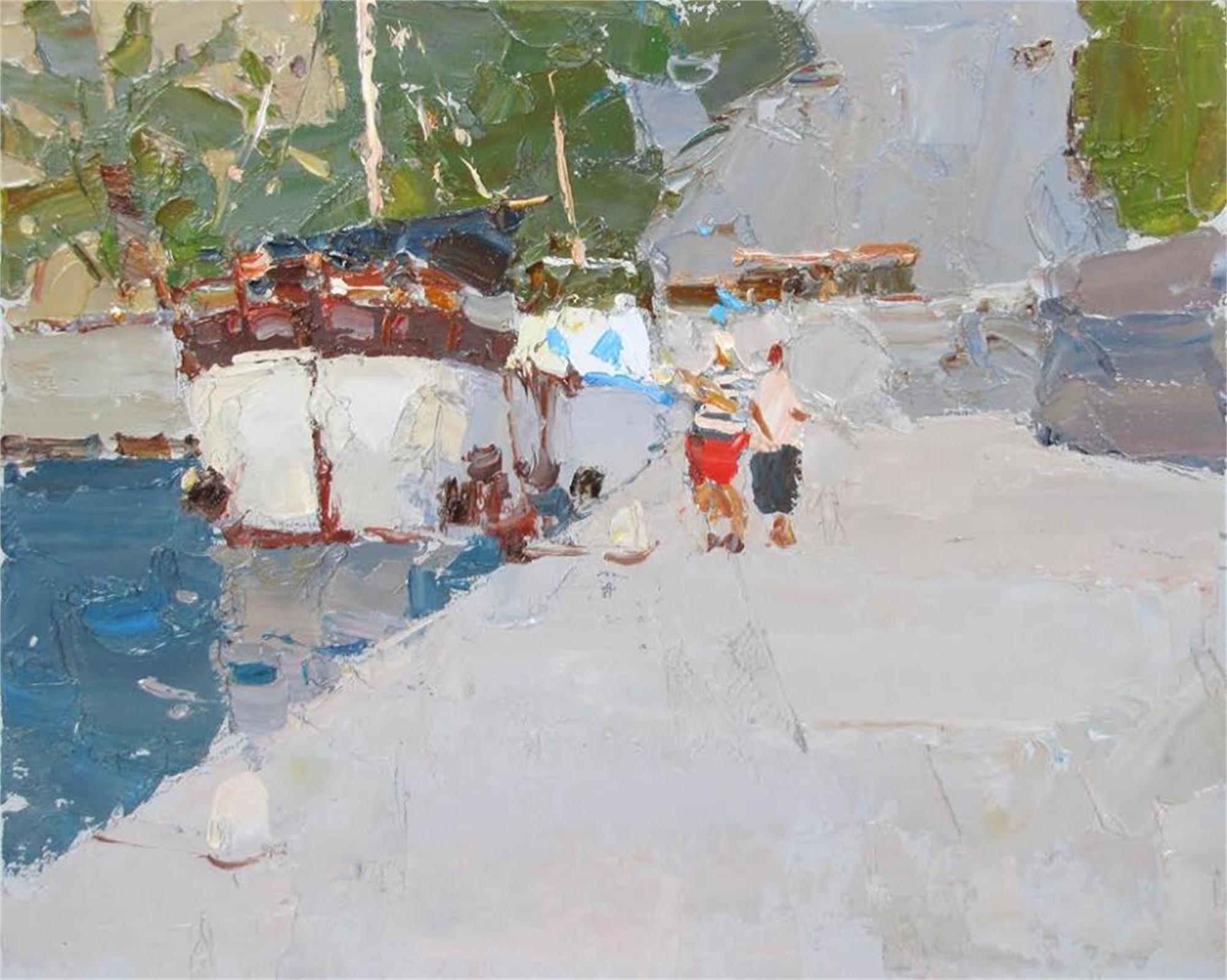 On the Pier by Daniil Volkov