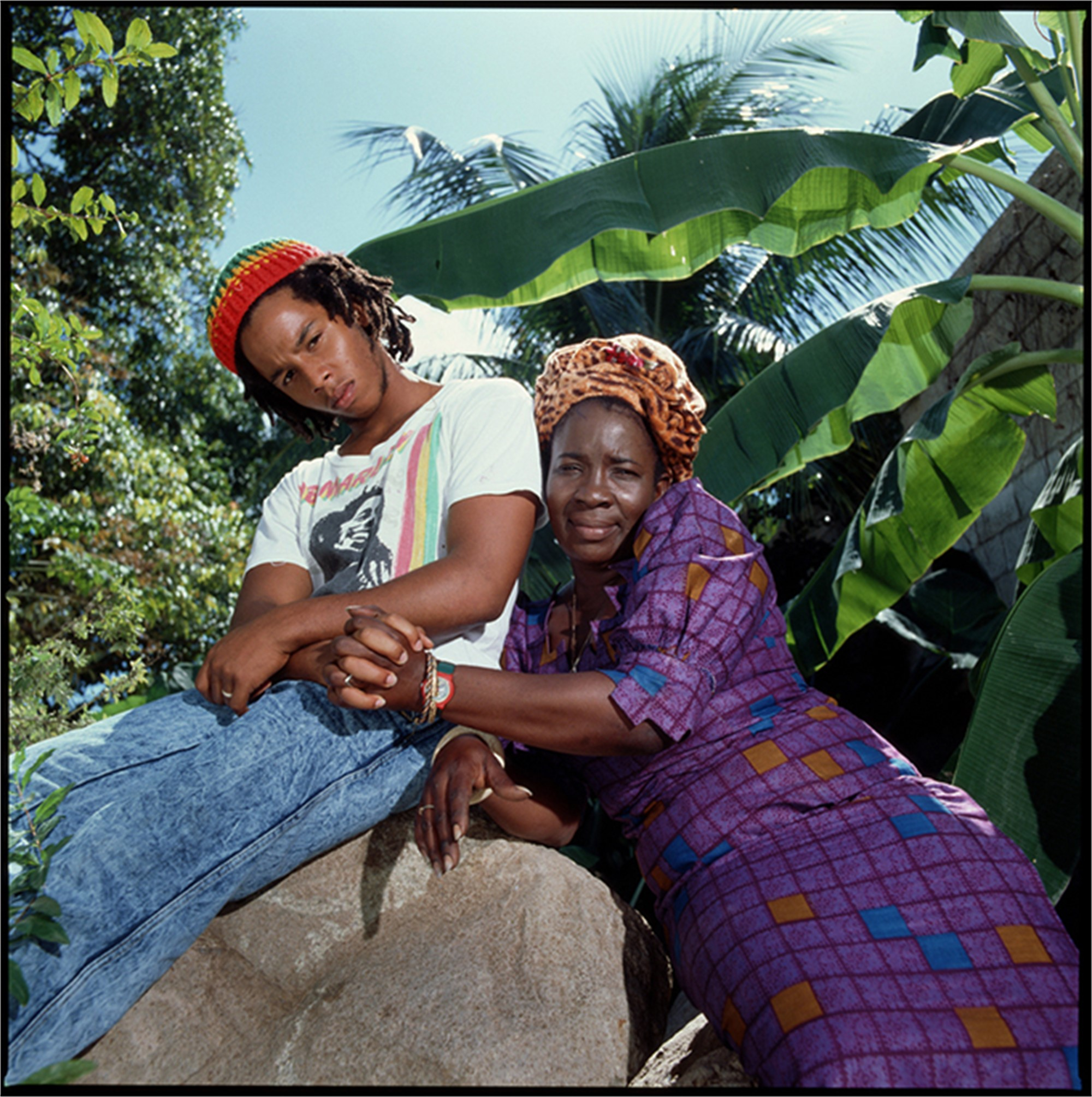 88011 Ziggy Marley With Rita Marley 1988 Color by Timothy White
