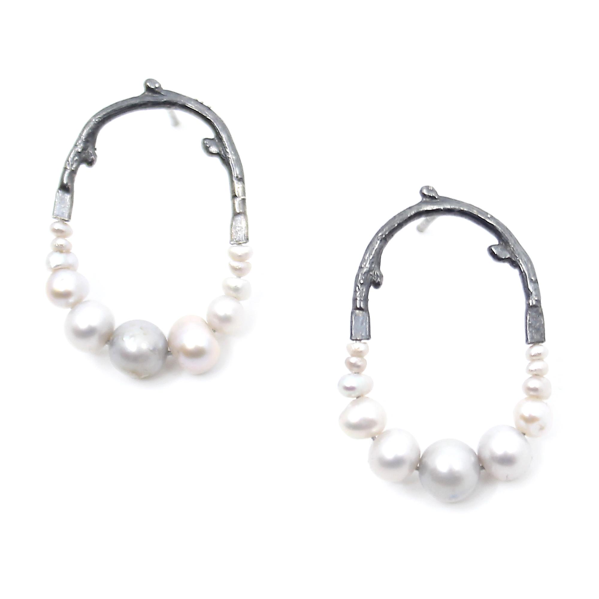 Mini Pearl Maxima Earrings by Anna Johnson