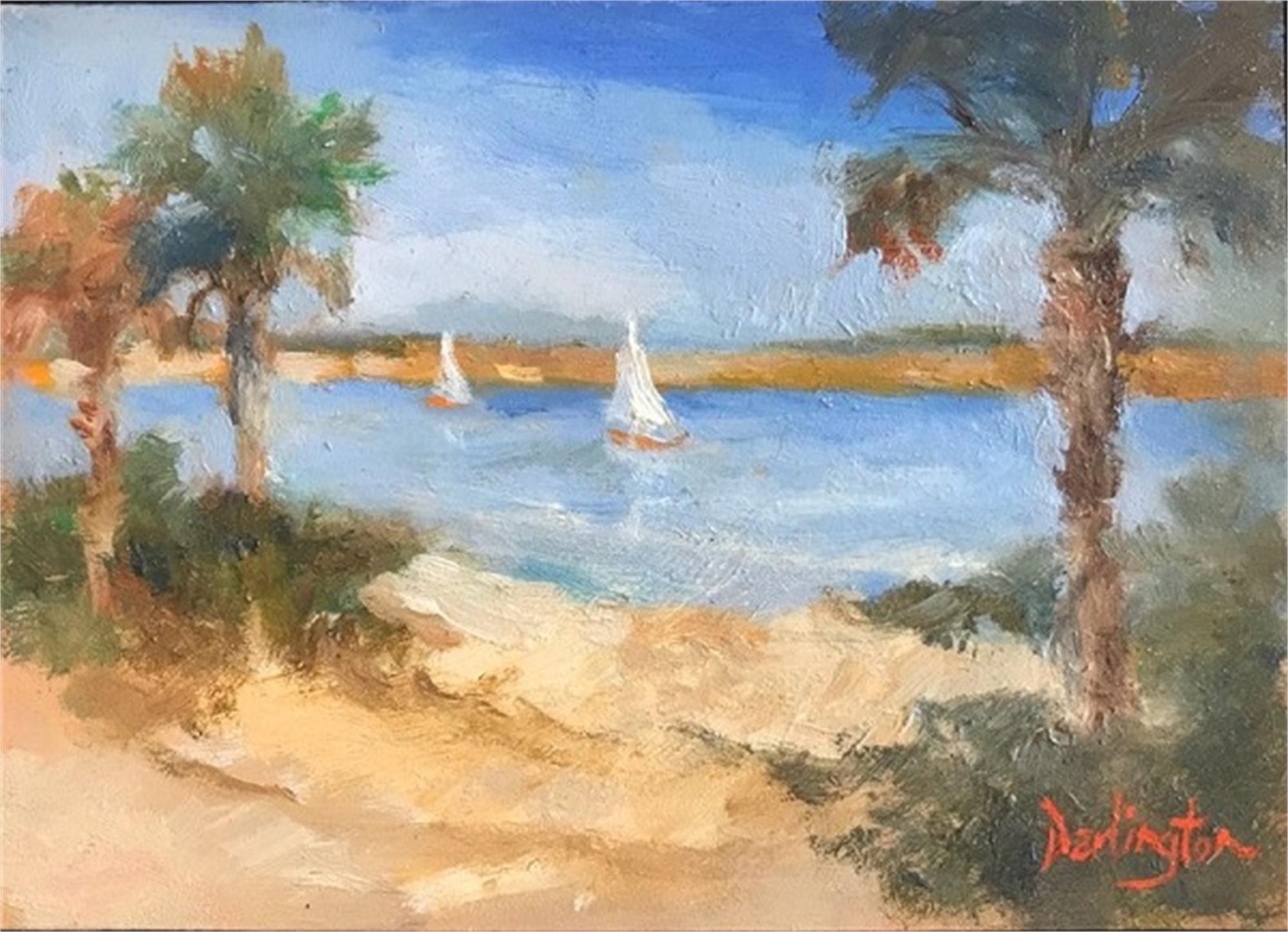 Sailboats on Waterway by Jim Darlington