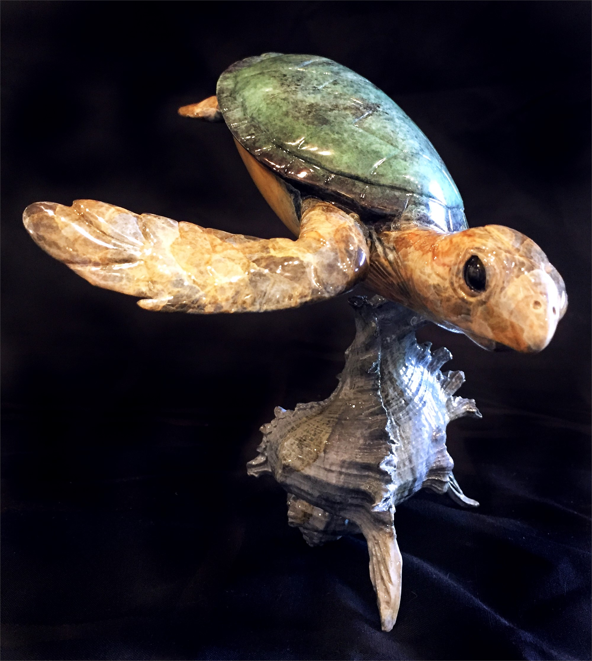 Sea Turtle with Shell Base by Brian Arthur