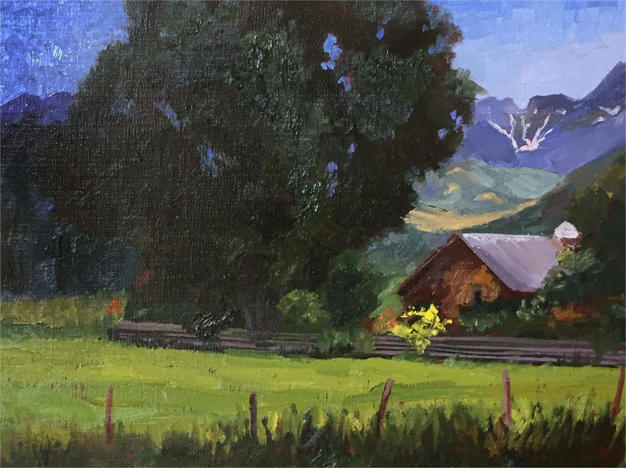Summer Mountain Home by Nancy Paris Pruden
