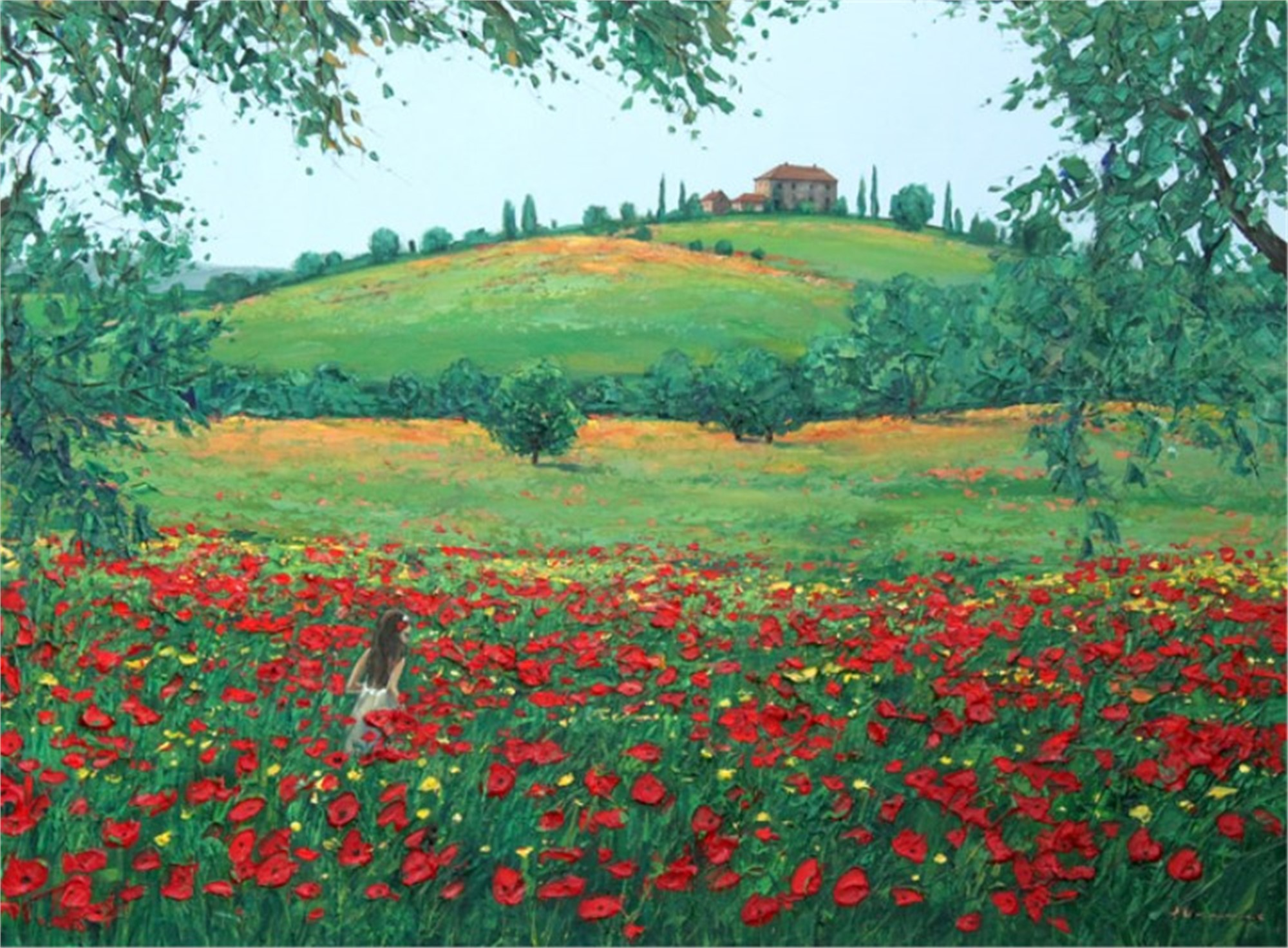 Wading through the Poppies by Jennifer Vranes