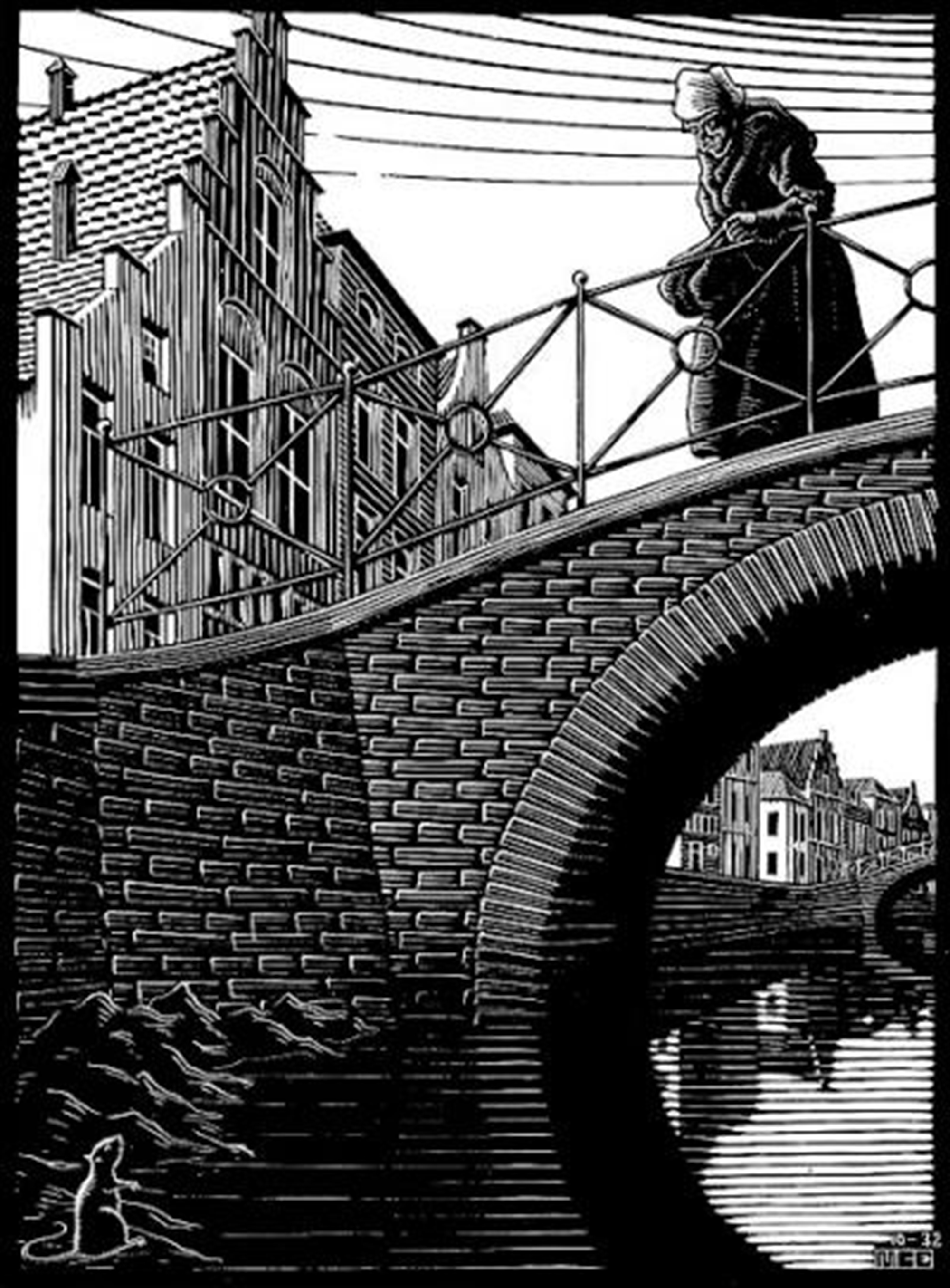 Scholastica (The Bridge) by M.C. Escher