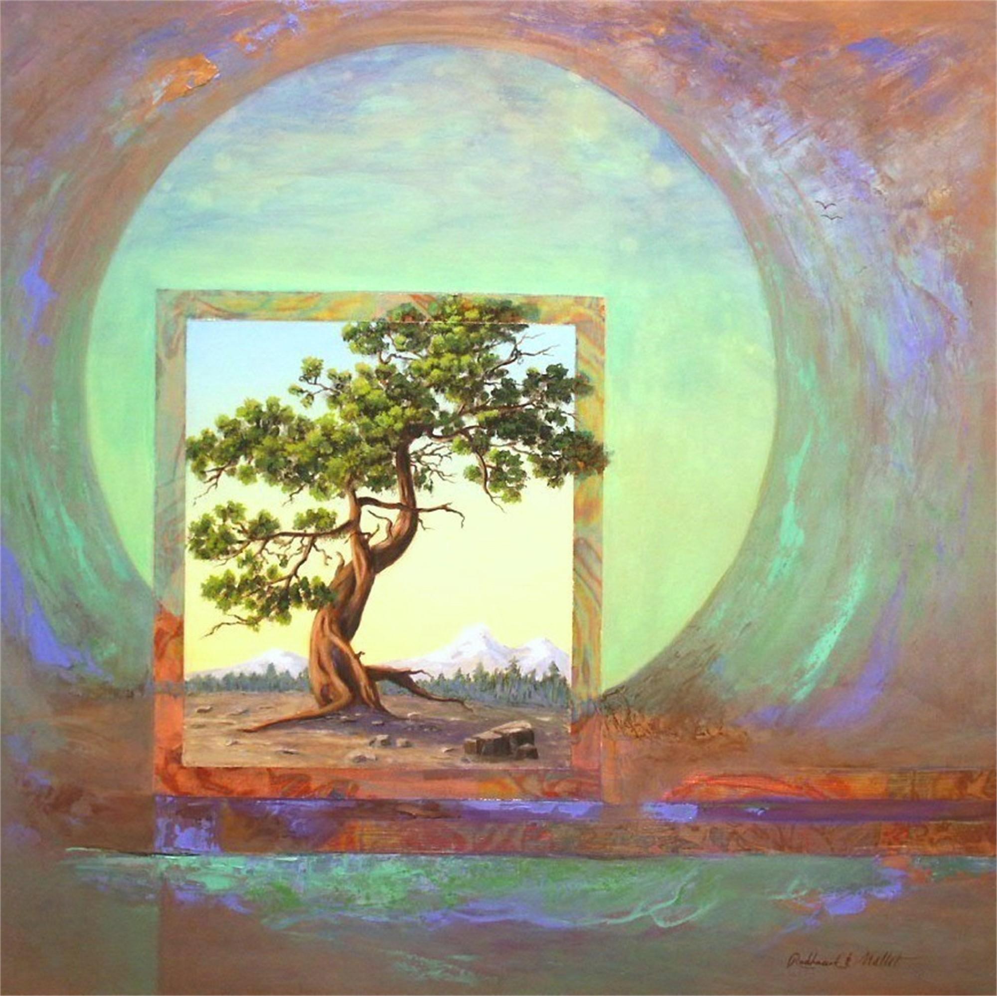 Bristlecone Pine+Moon#111 by Marlys Mallét & Michael Redhawk
