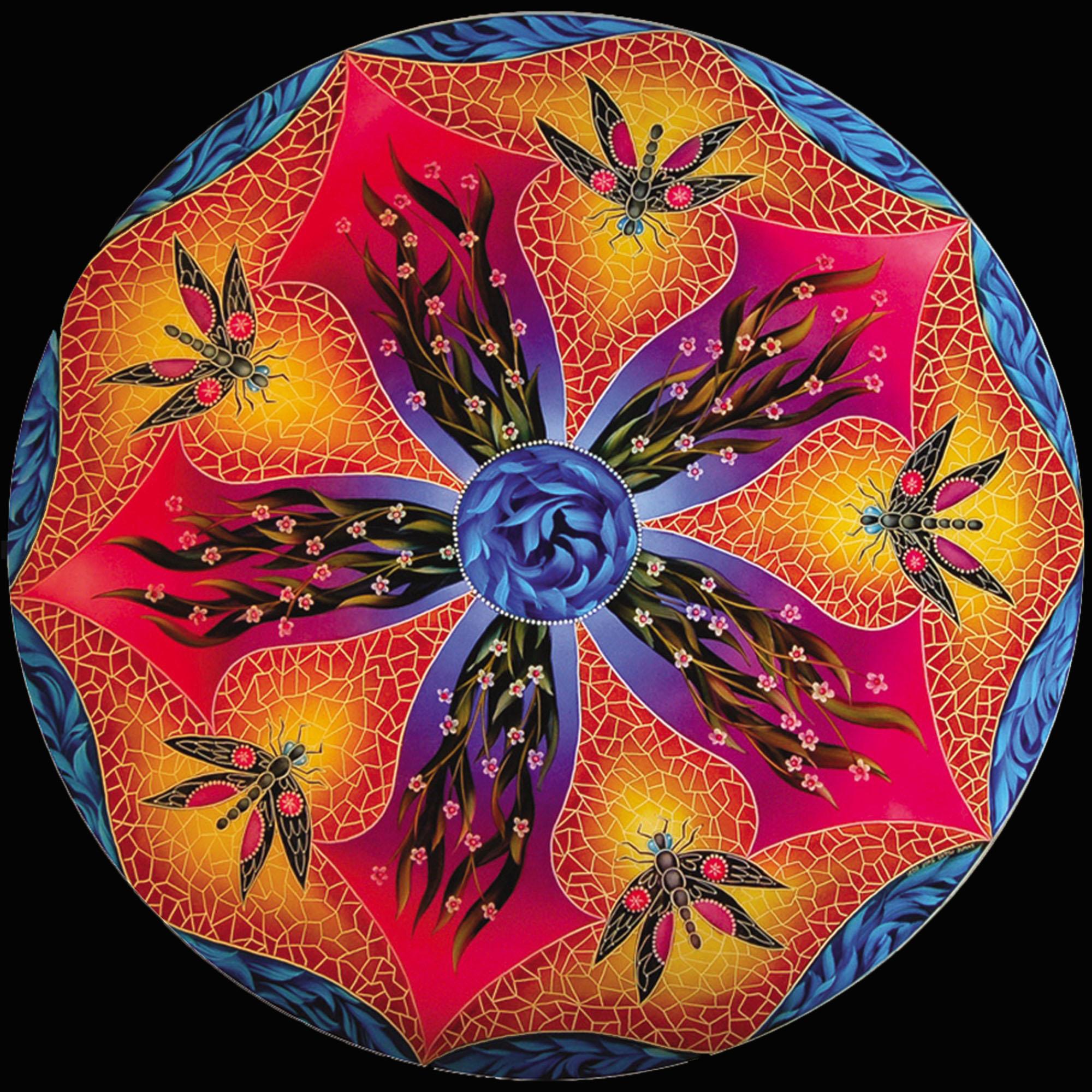 Design Dragonfly Blue Trim by Jamie Barthel