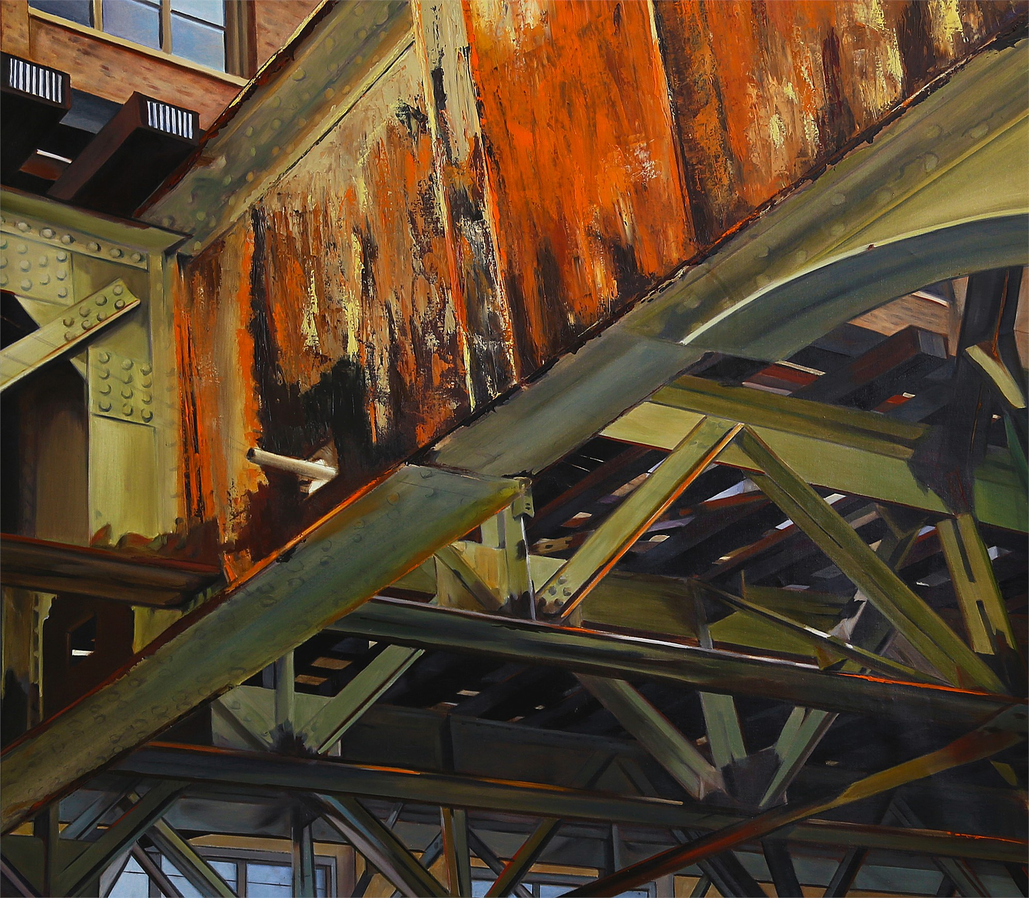 Old Rust on the Brown Line by Allan Gorman