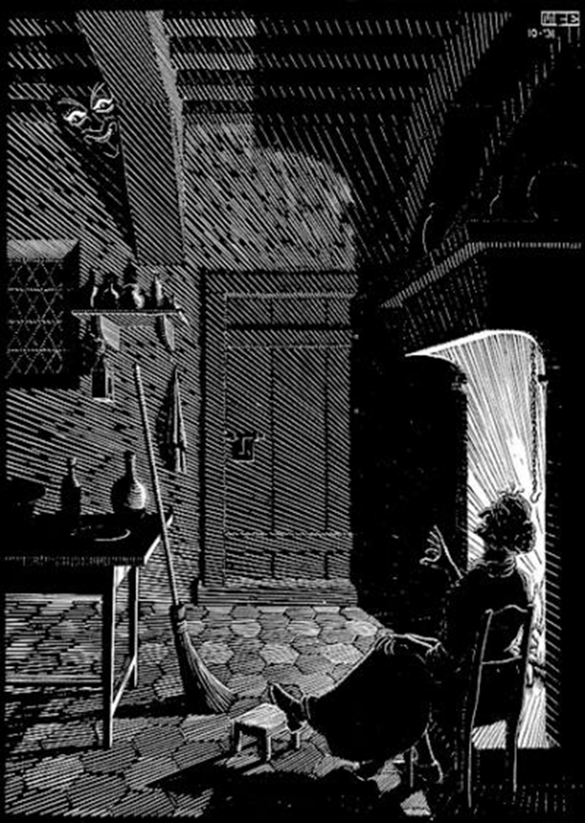 Scholastica (Poltergeist) by M.C. Escher