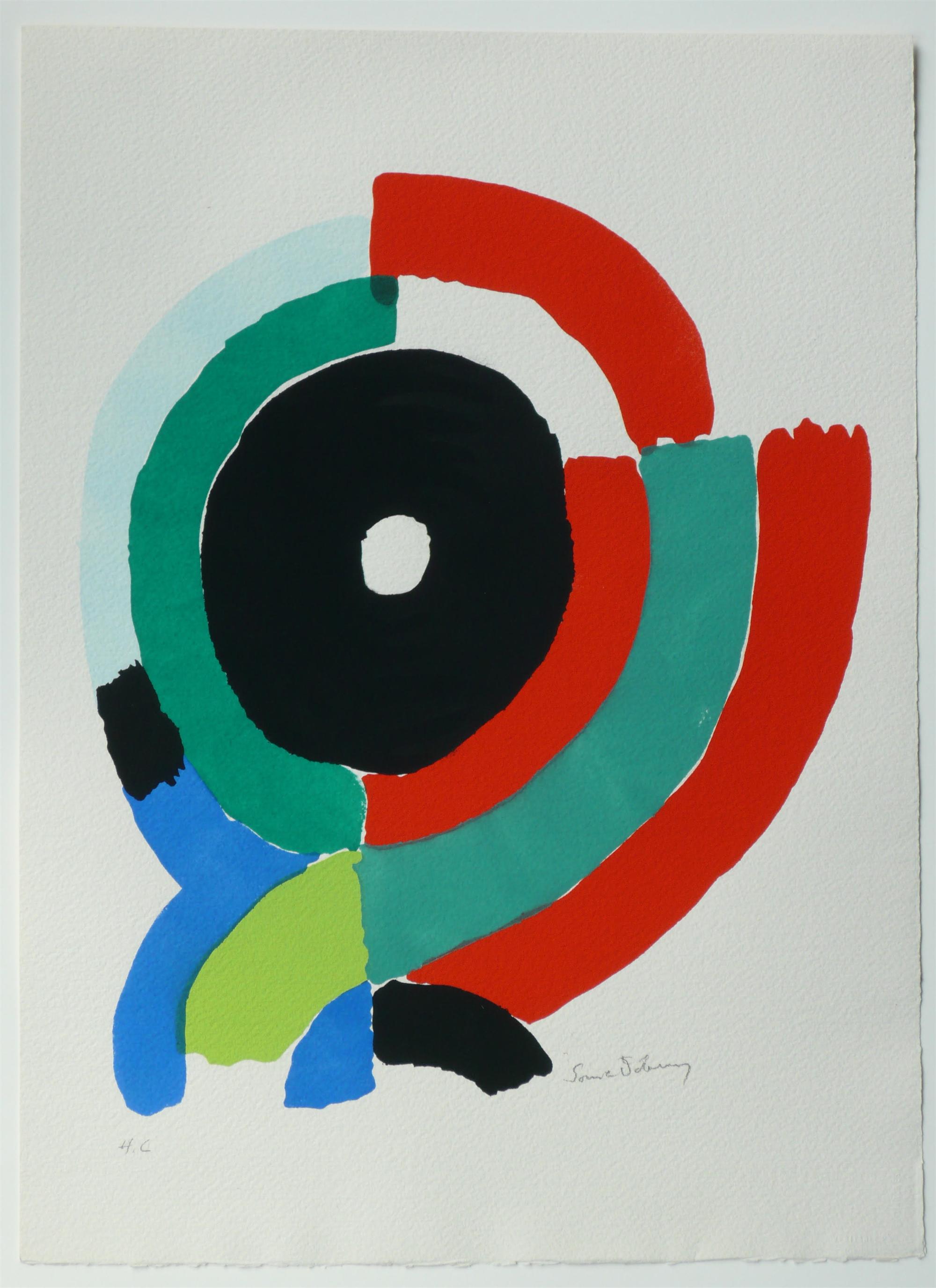 Pochoir from Les Illuminations de Rimbaud by Sonia Delaunay