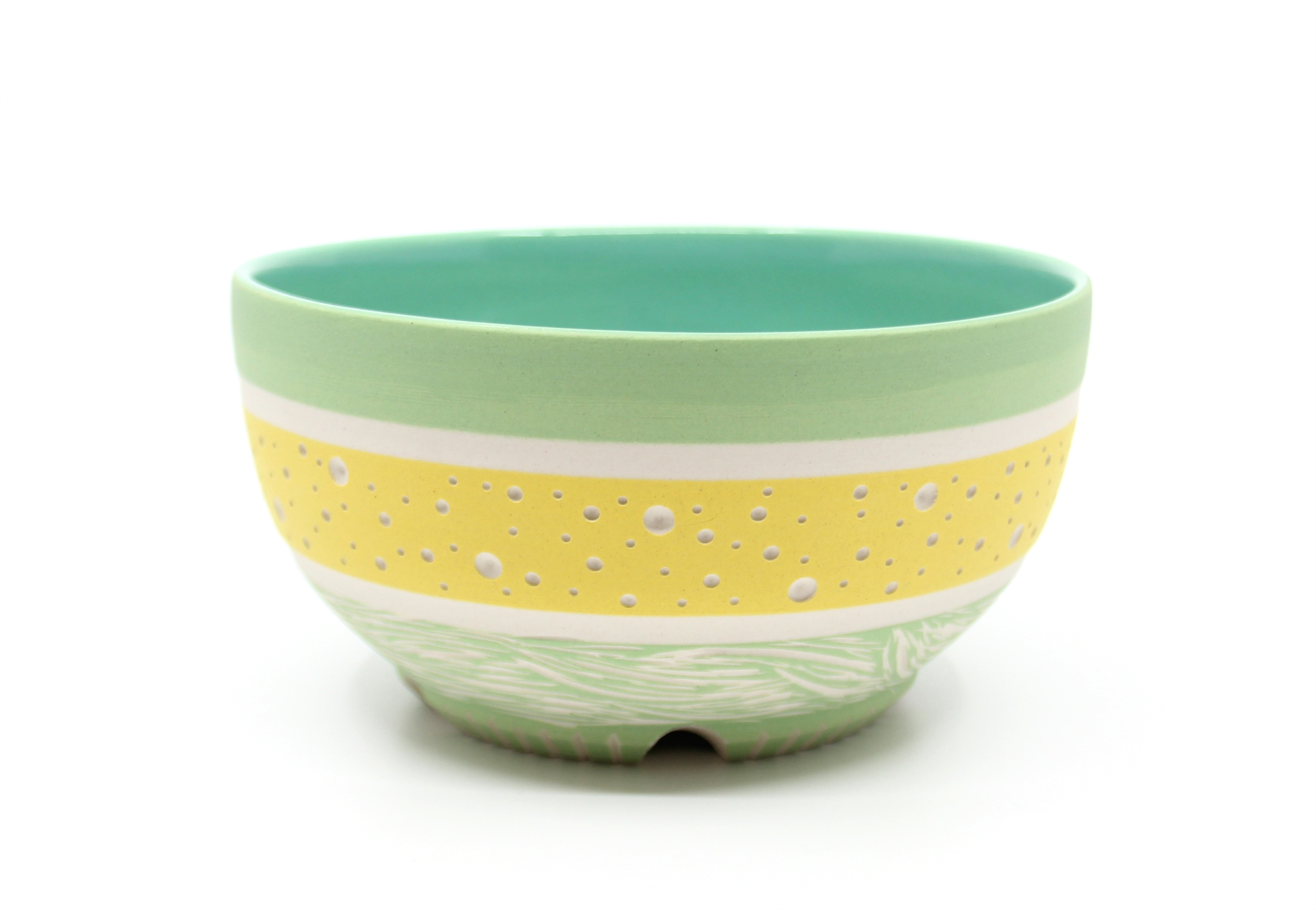 Yellow & Green Bowl by Chris Casey