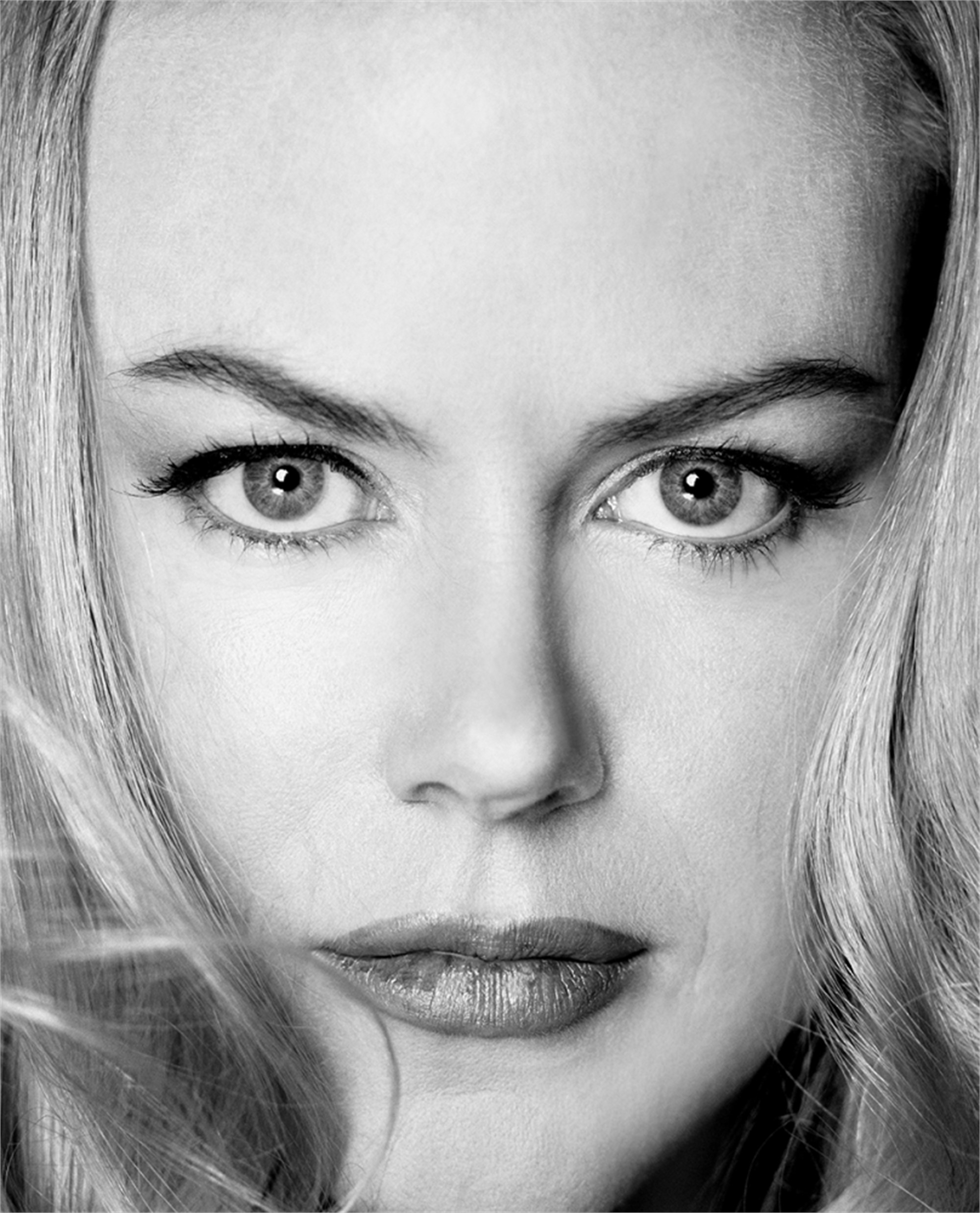 03077 Nicole Kidman Headshot BW by Timothy White