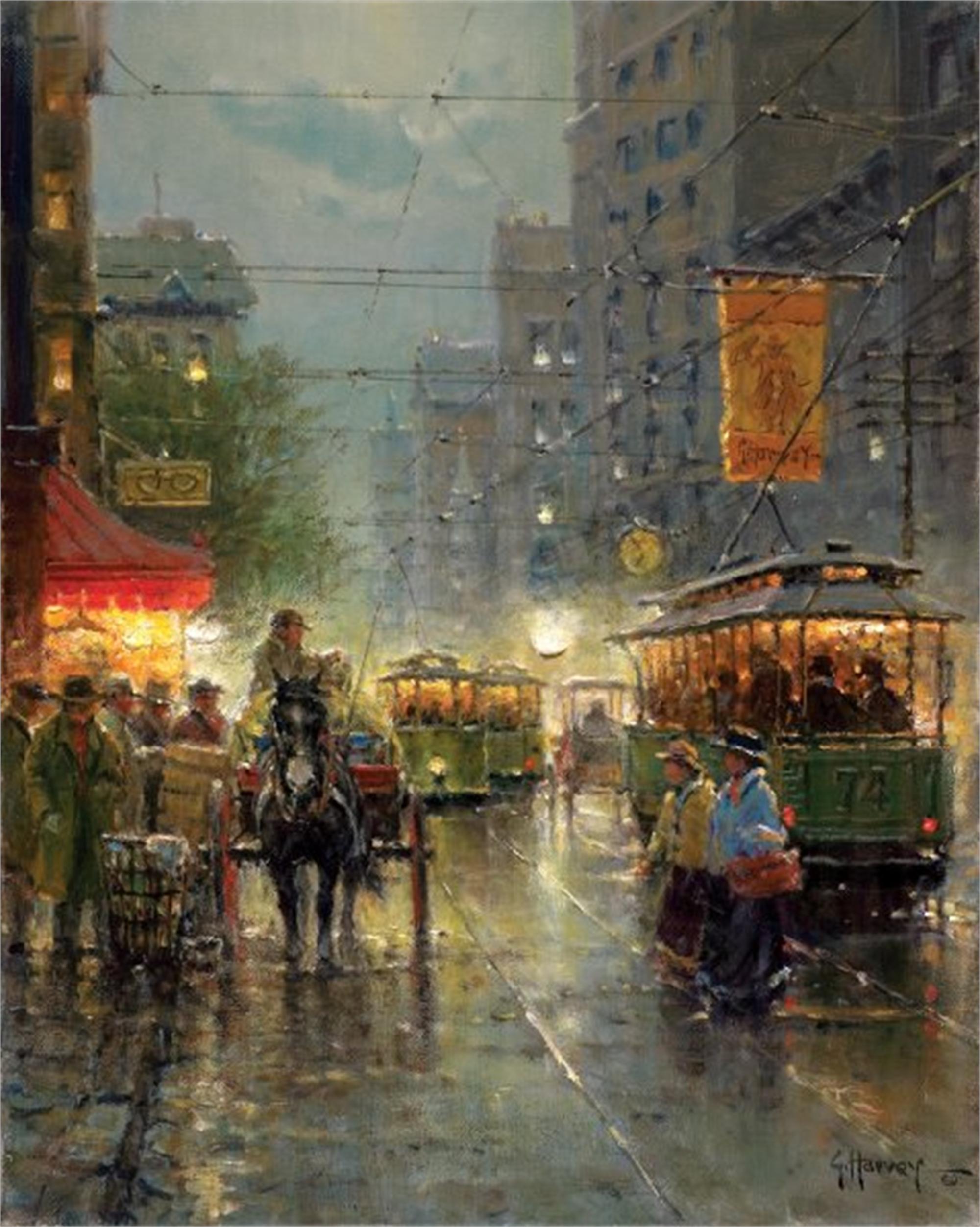 Old Dallas Main Street by G. Harvey