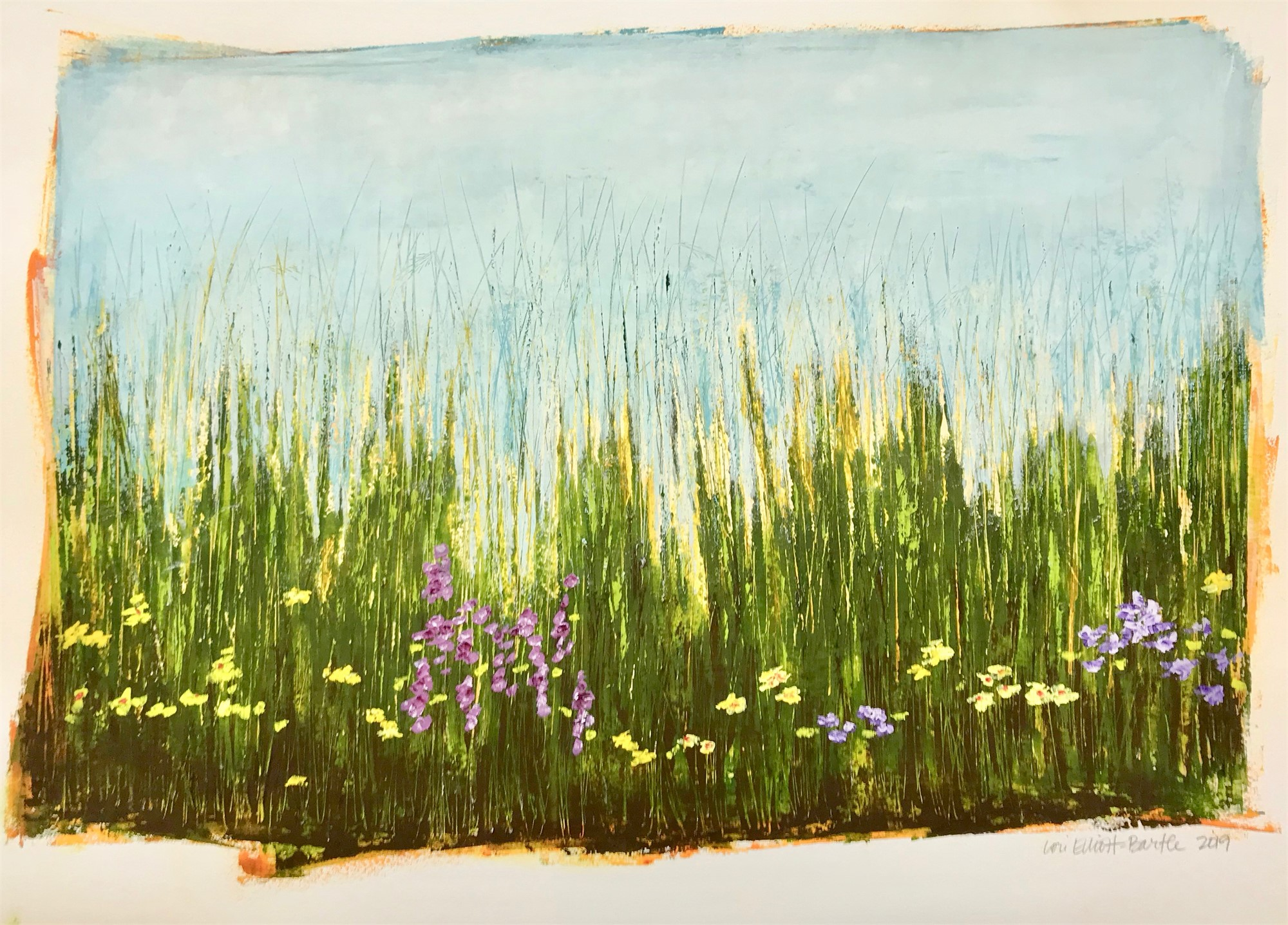 Blooms & Grasses #6 by Lori Elliott-Bartle