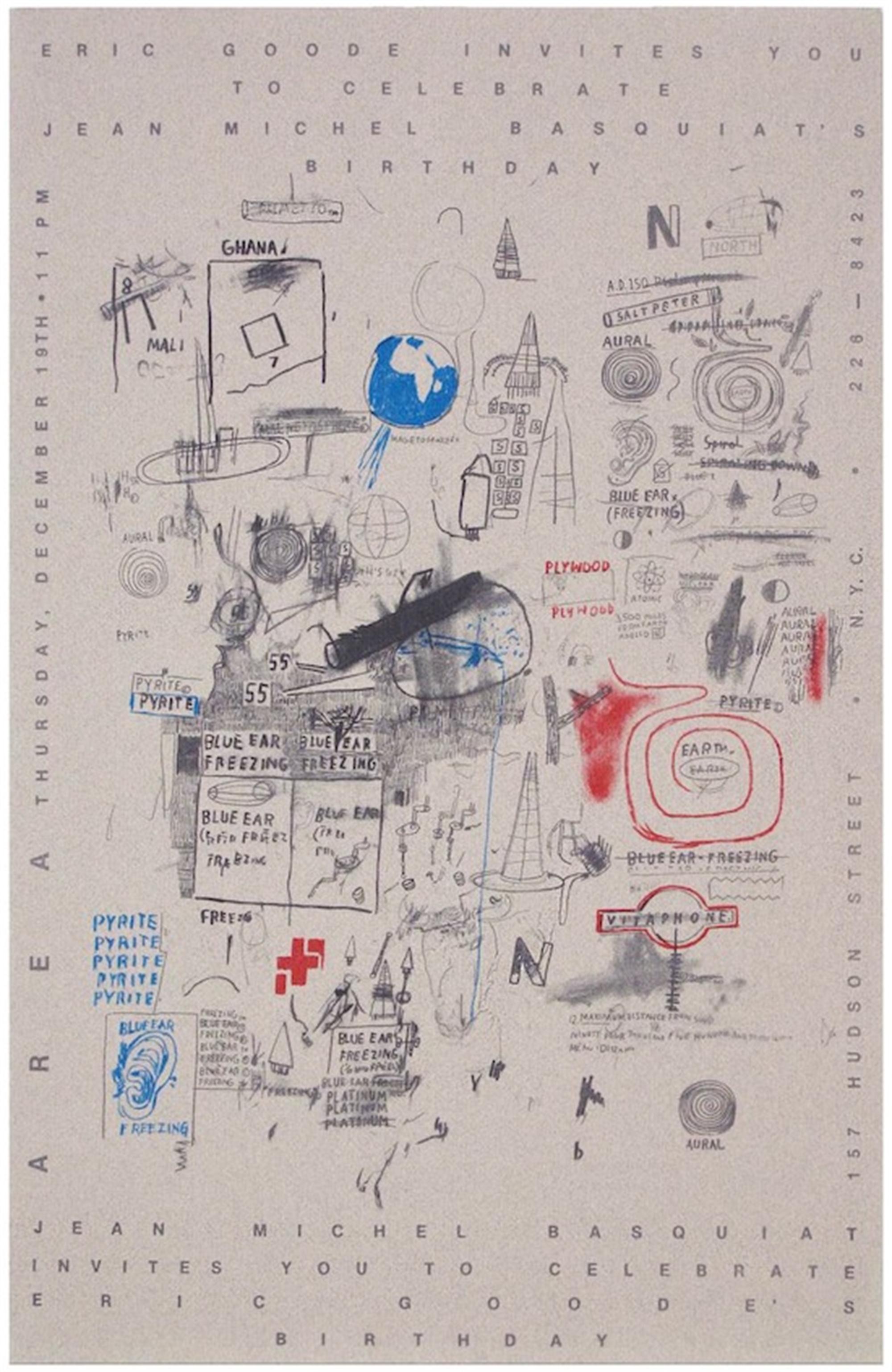 Untitled (Club Area) by Jean-Michel Basquiat